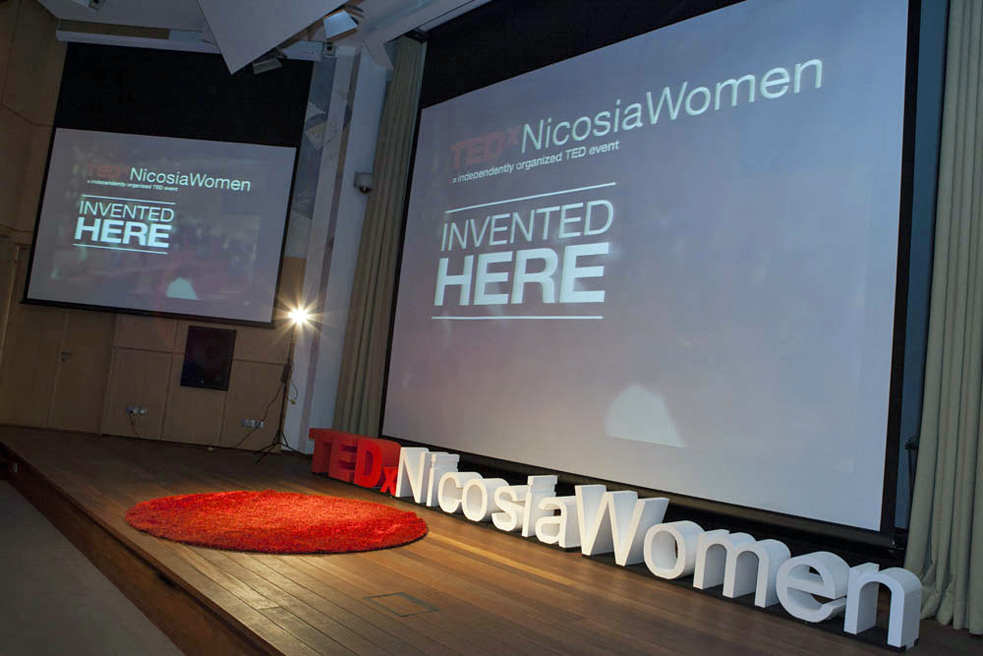 The stage at TEDxNicosiaWomen. Photo: Andri Josef/AJPhotoart