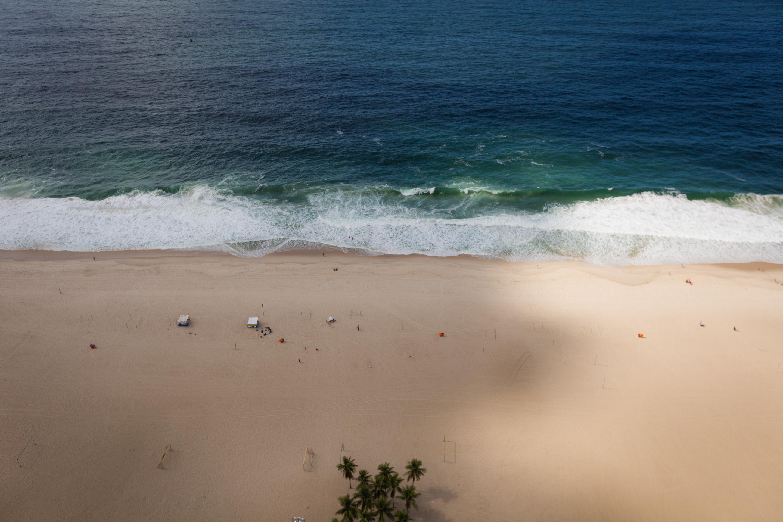 Copacabana Beach in shadow. Photo: Ryan Lash