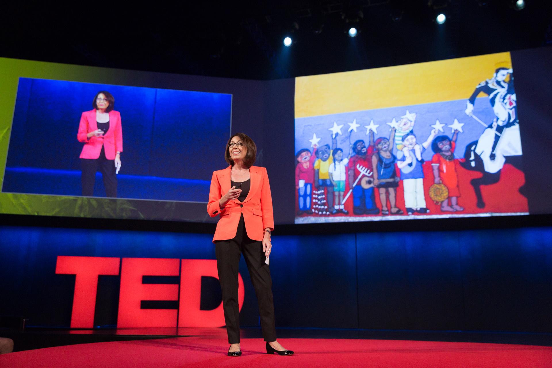 Marie Arana talks about the longevity of Simon Bolivar's legacy at TEDGlobal 2014. Photo: James Duncan Davidson