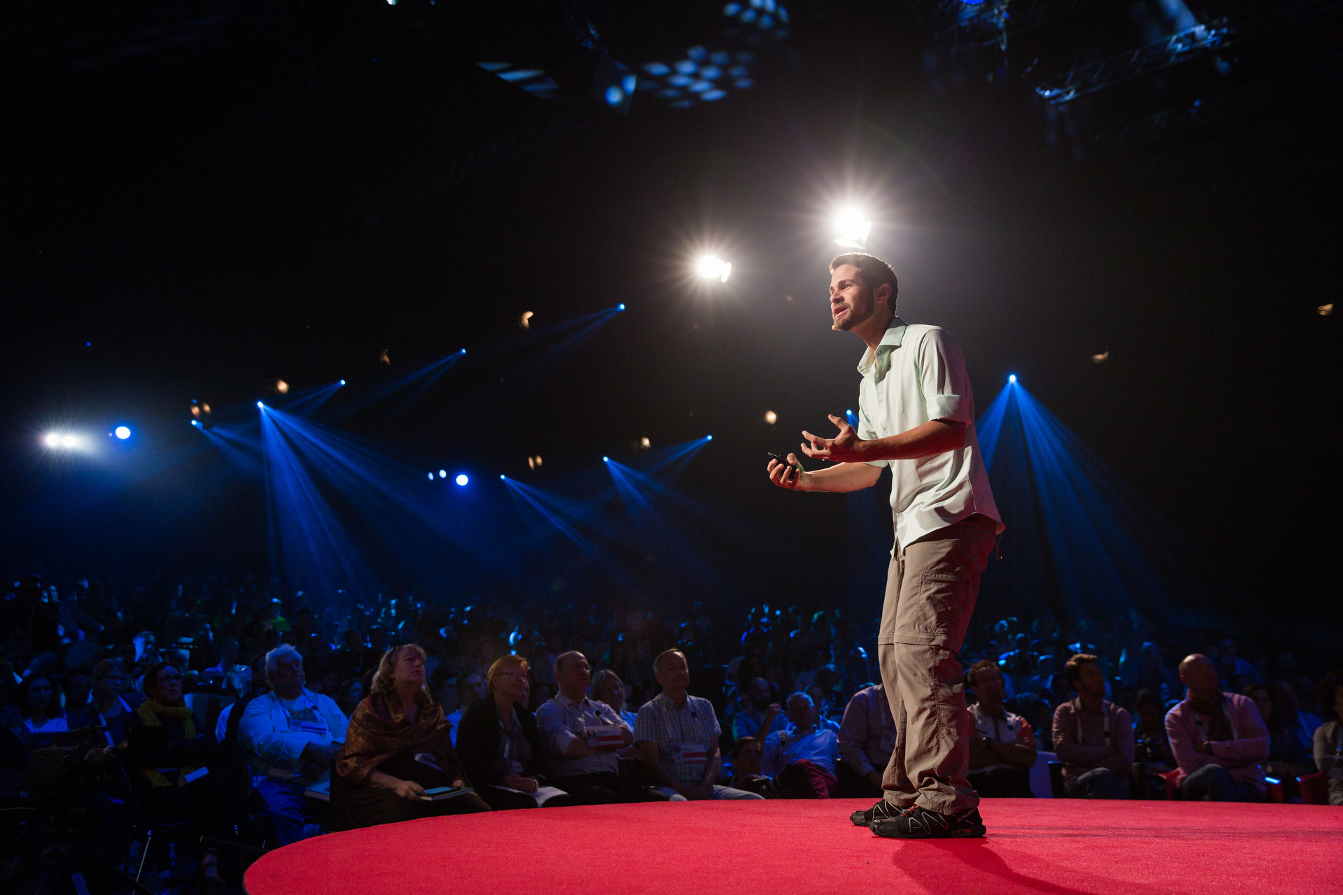 Andres Ruzo speaking at TEDGlobal 2014.