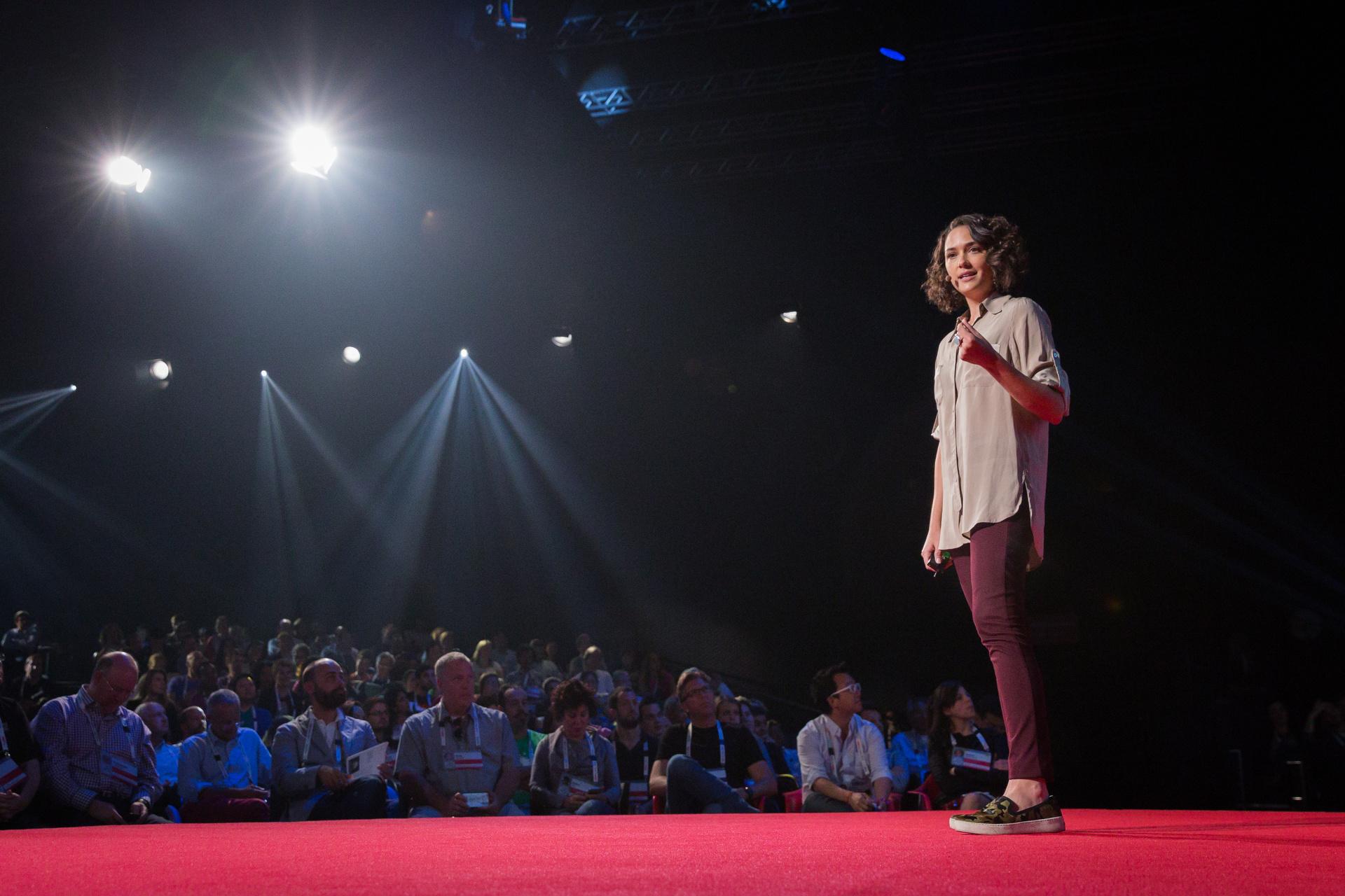 Pia Mancini speaking at TEDGlobal 2014. Photo: James Duncan Davidson/TED