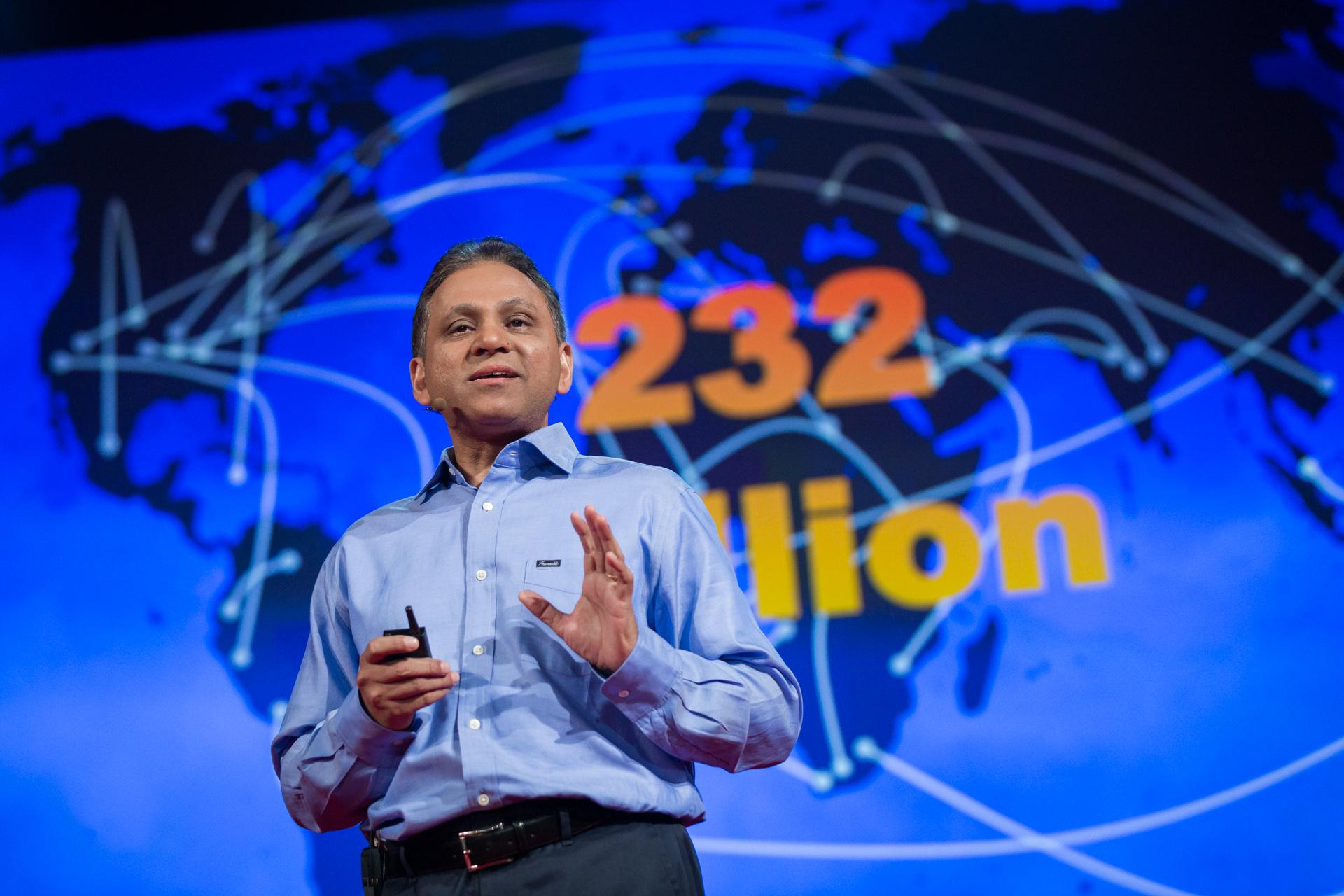 Dilip Ratha speaking at TEDGlobal 2014.