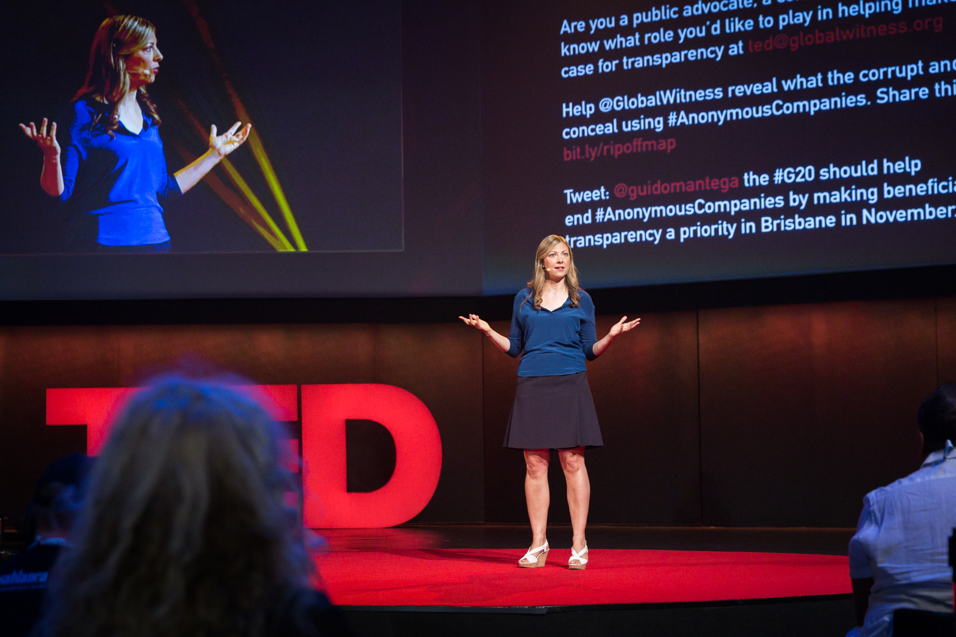 TED Prize winner Charmian Gooch speaking at TEDGlobal 2014. Photo: James Duncan Davidson/TED