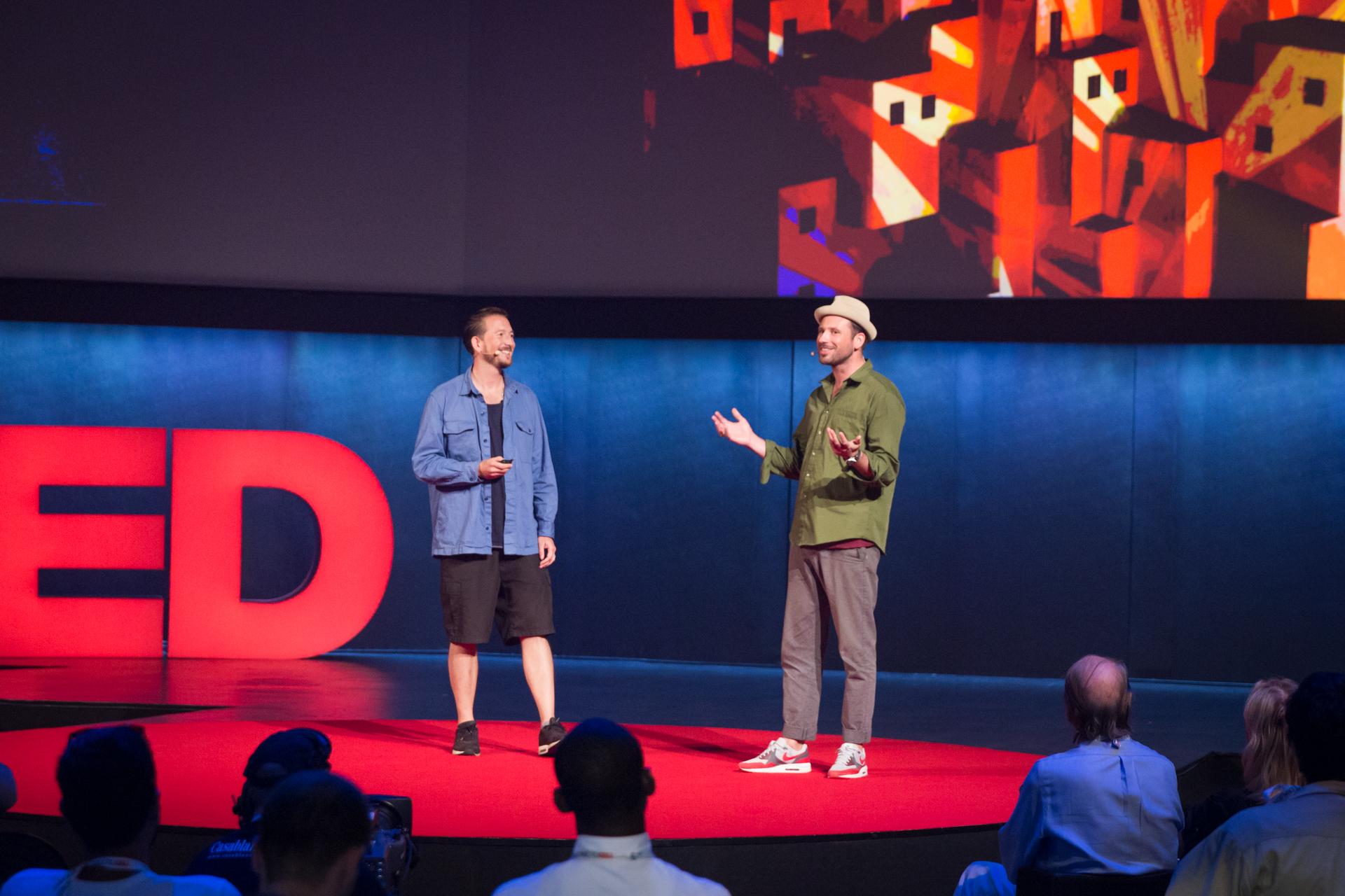 (L-R) Dre Urhahn and Jeroen Koolhaas speak at TEDGlobal 2014. Photo: James Duncan Davidson/TED