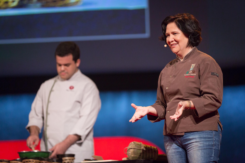 Teresa Corção speaks at TEDGlobal 2014. Photo: Ryan Lash/TED