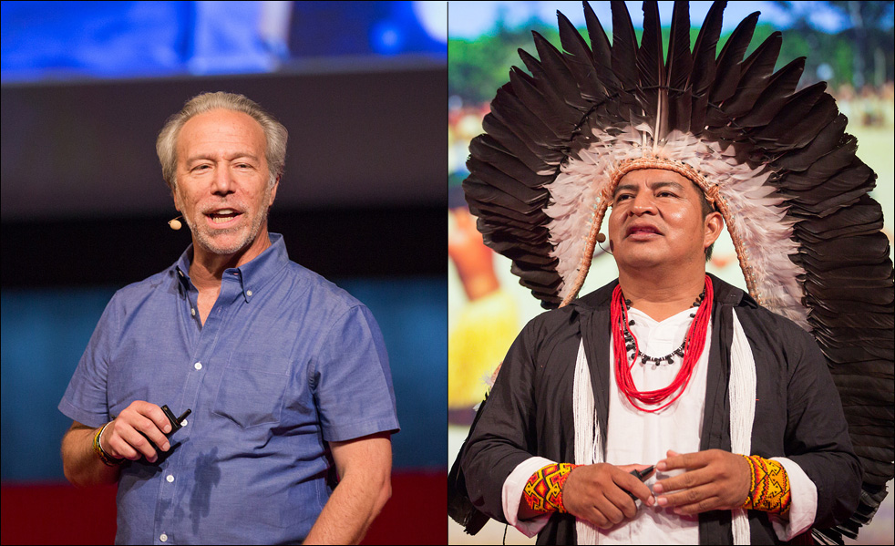 Mark Plotkin and Chief Tashka were pleased to share the stage at TEDGlobal 2014. Photo: James Duncan Davidson