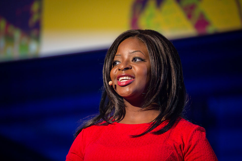 Patrice Thompson speaks at TED@State Street salon at Troxy, November 18, 2014, London, England.