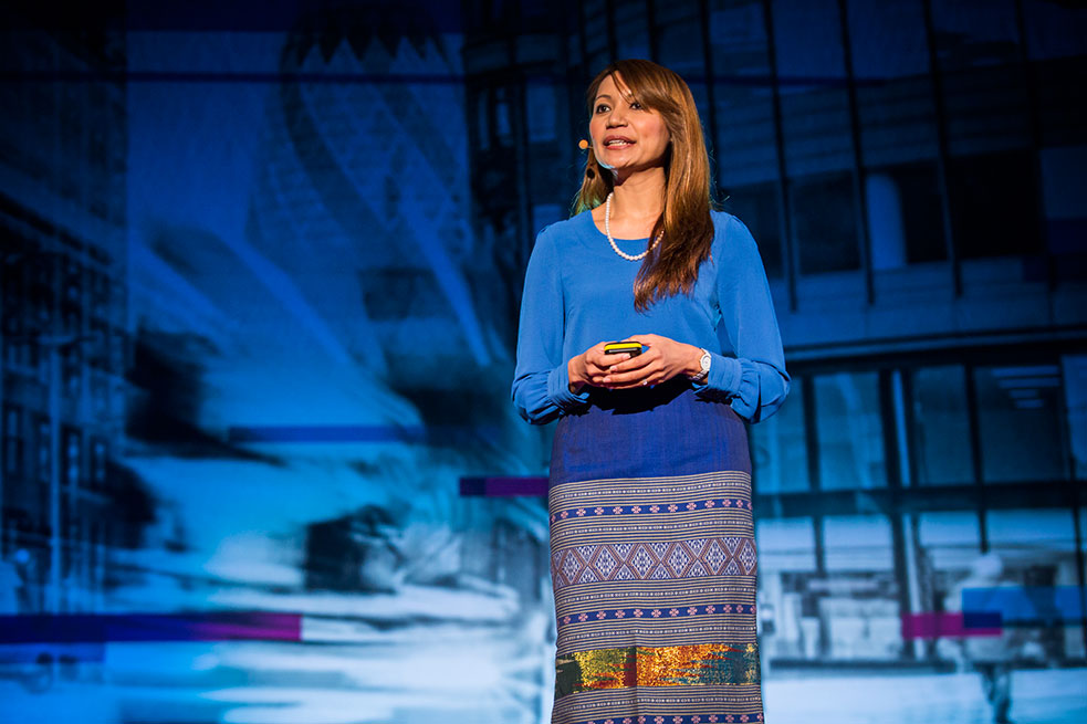 What's in a name? More than you think, says Cynthia Win at TED@StateStreet. Photo: Paul Sanders/TED