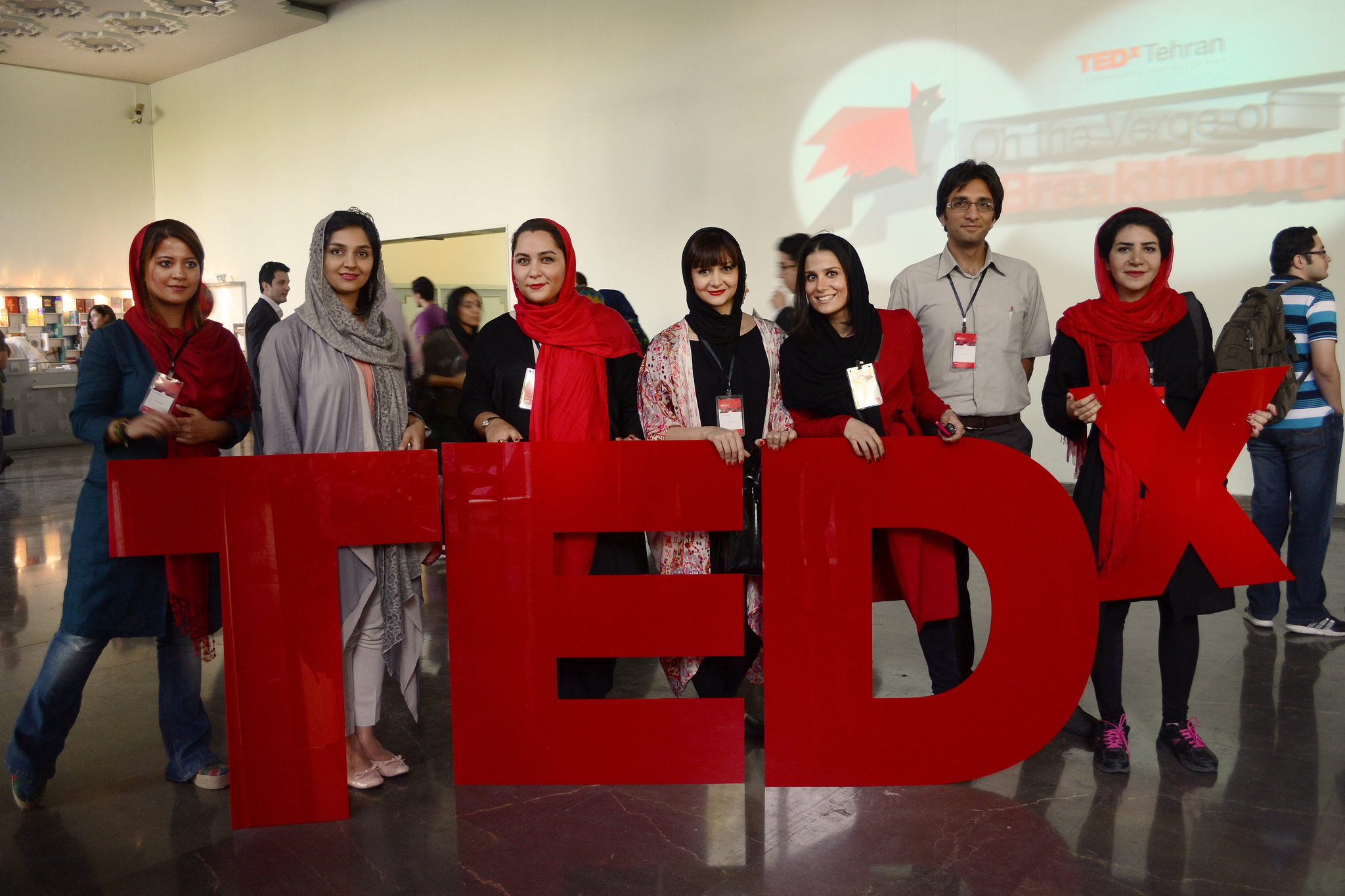 The TEDx letters, proudly displayed. Photo: Nooshafarin Movaffagh