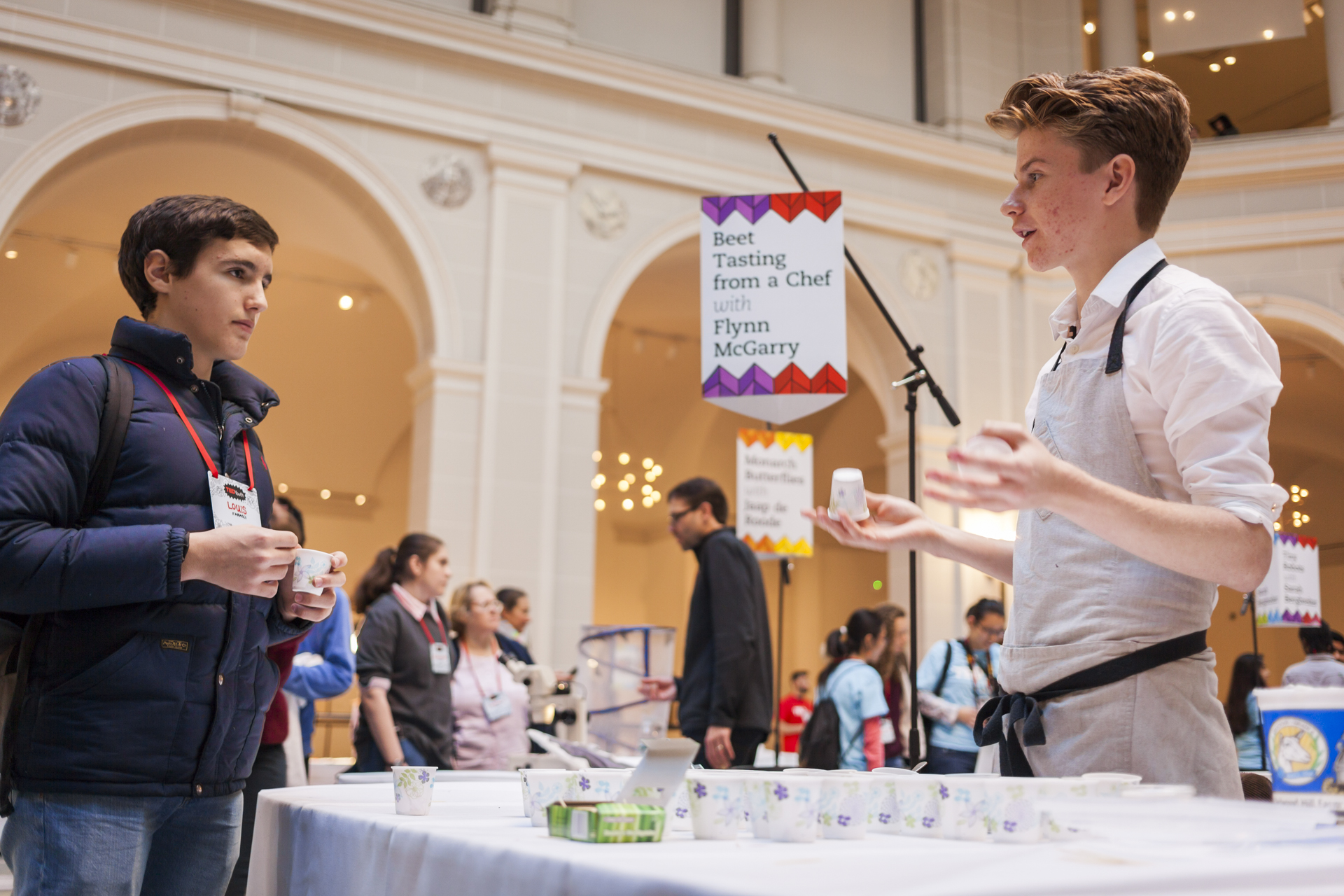 Teenage chef Flynn McGarry talks about his beets, which taste as good as meat. Photo: Dian Lofton/TED