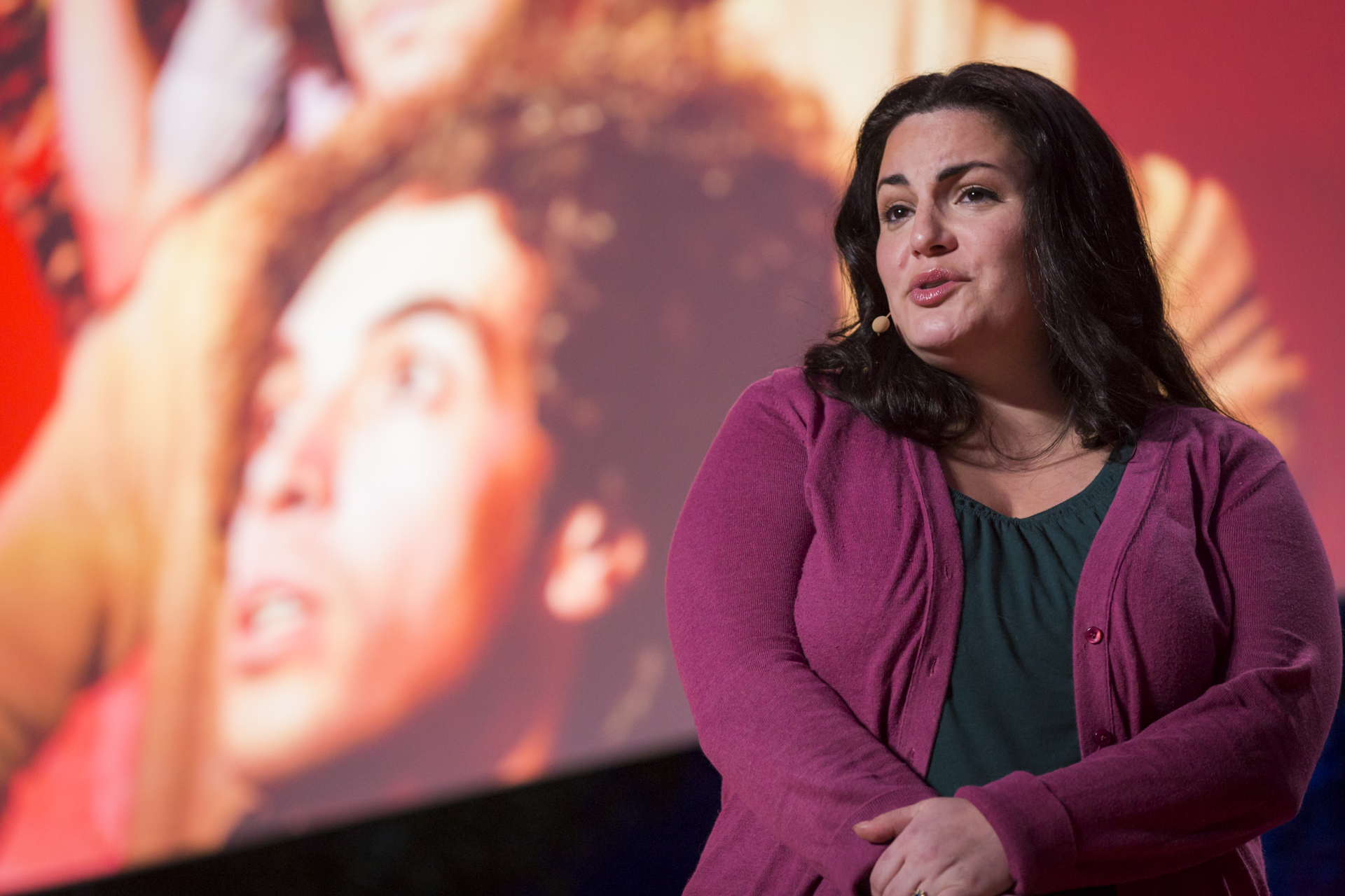 Jennifer Mascia, the daughter of a convicted Mafia gunman, explains the importance of reporting on—and stopping—gun violence. Photo: Ryan Lash/TED