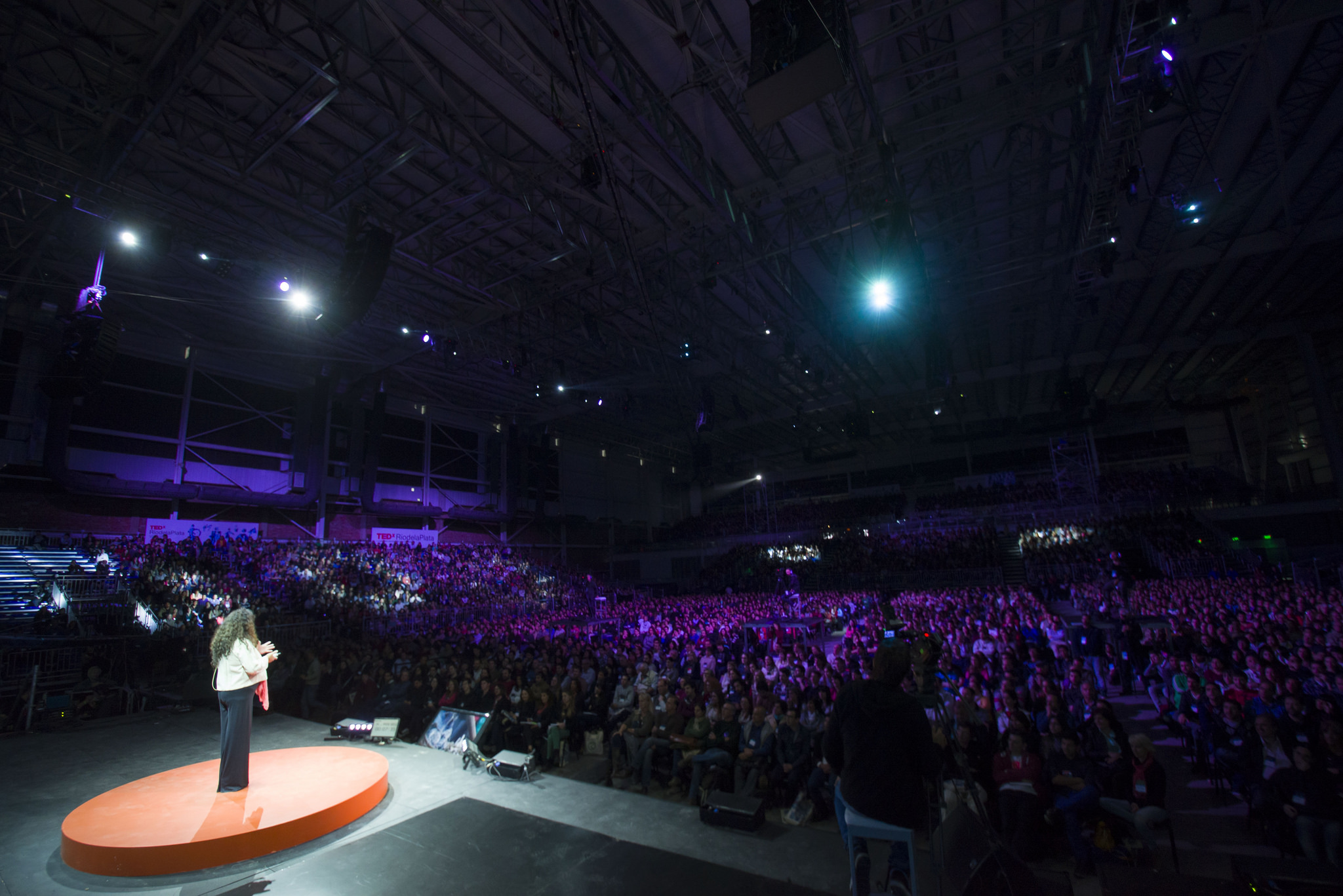 What an audience of 10,000 looks like from the stage,