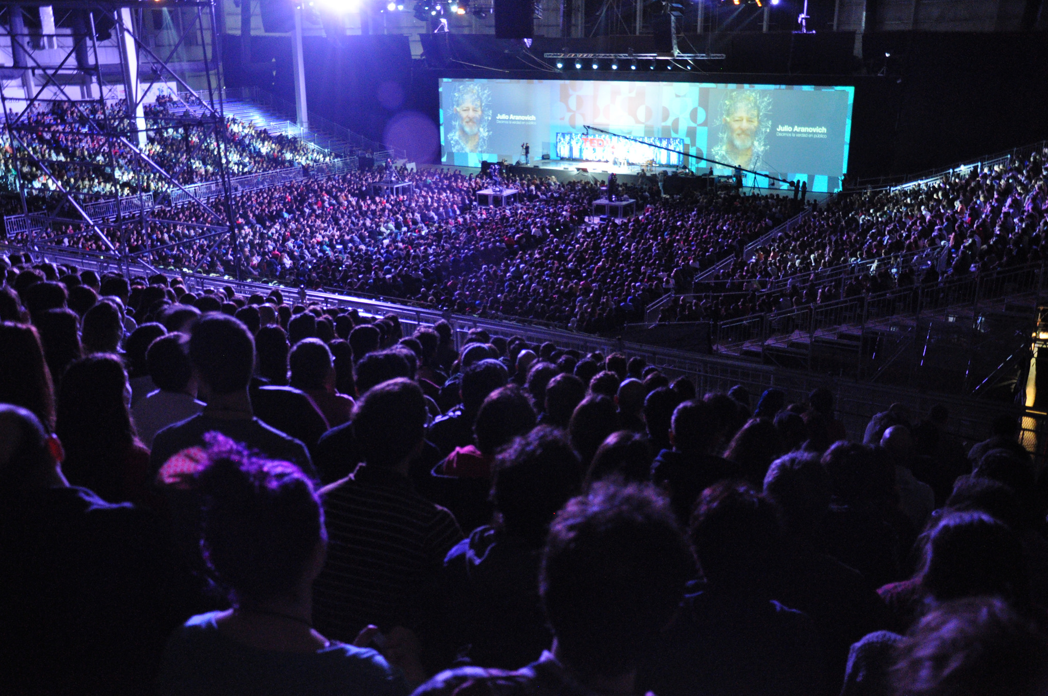 The incredibly large audience at TEDxRio