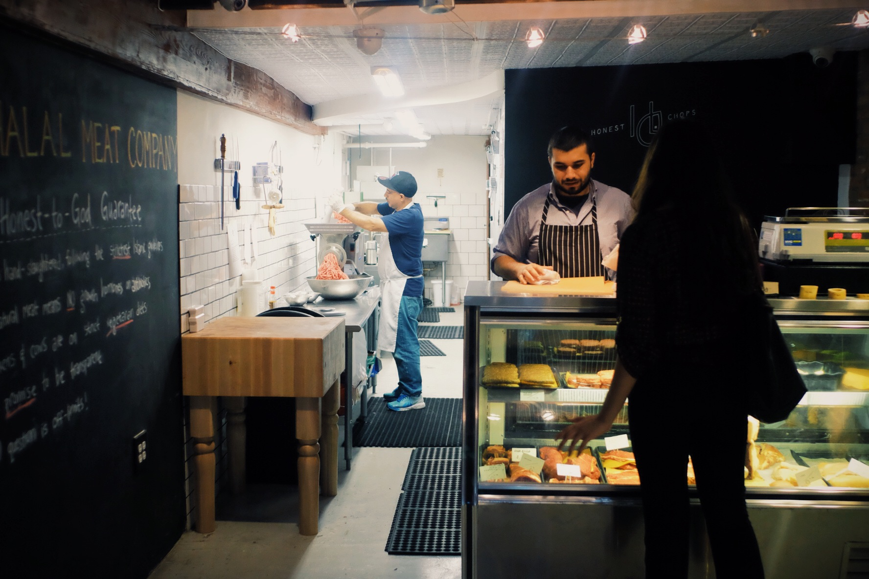 """Tariq opened Honest Chops Halal butcher store in the heart of New York's East Village in Manhattan. Their mission: """"Here to change the world's relationship to their food."""" Photo: Omar Mullick/Honest Chops"""