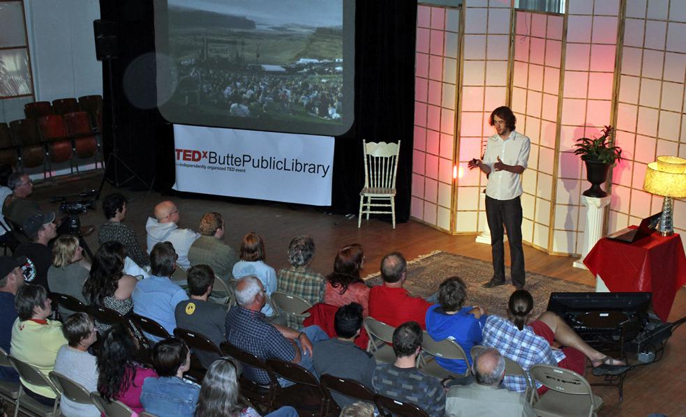 Fresh ideas at TEDxButtePublicLibrary. Photo: Courtesy of TEDxButtePublicLibrary