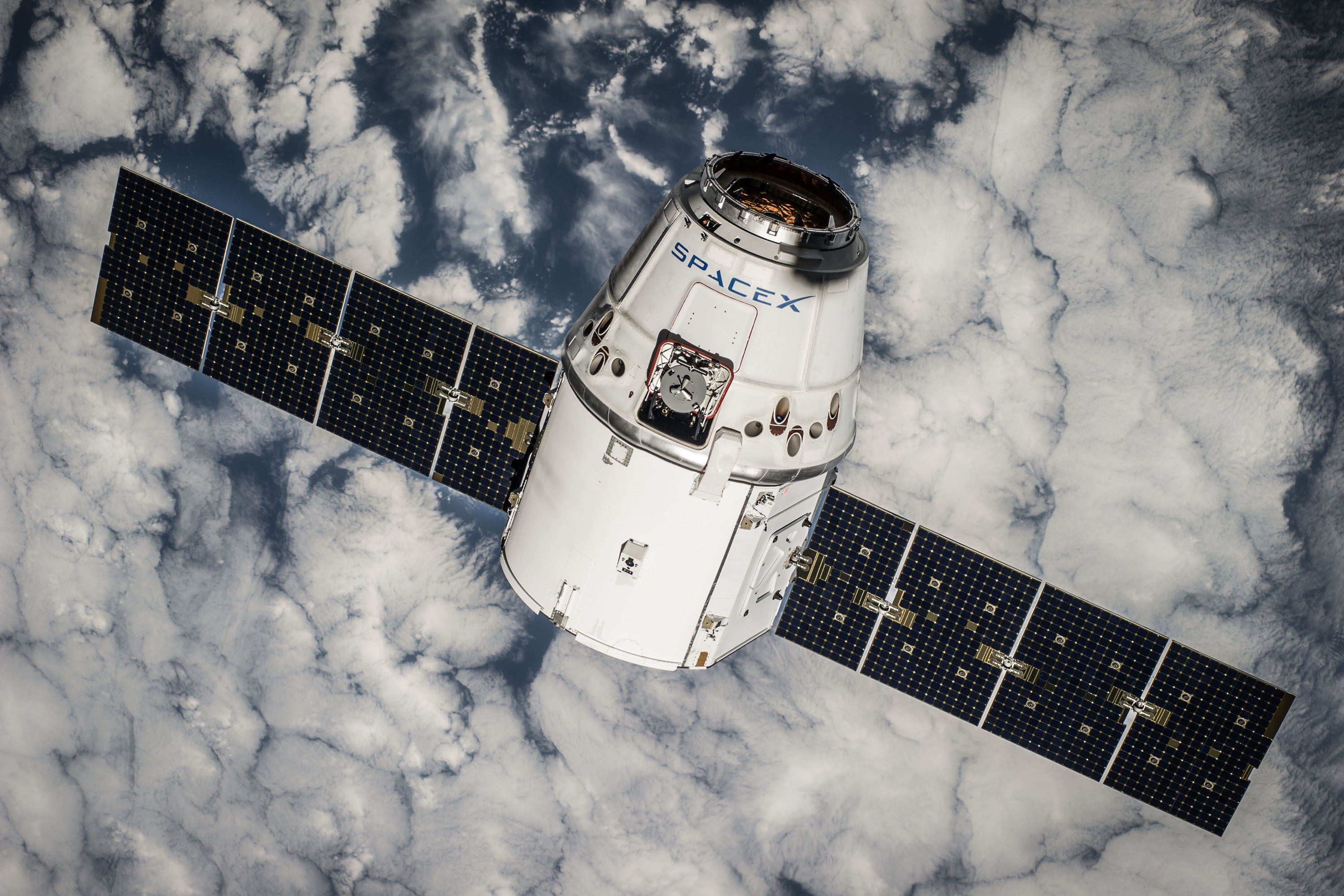 A SpaceX rocket in orbit. On Saturday, the company will launch a rocket that it will attempt to land on the way down. Photo: Courtesy of SpaceX