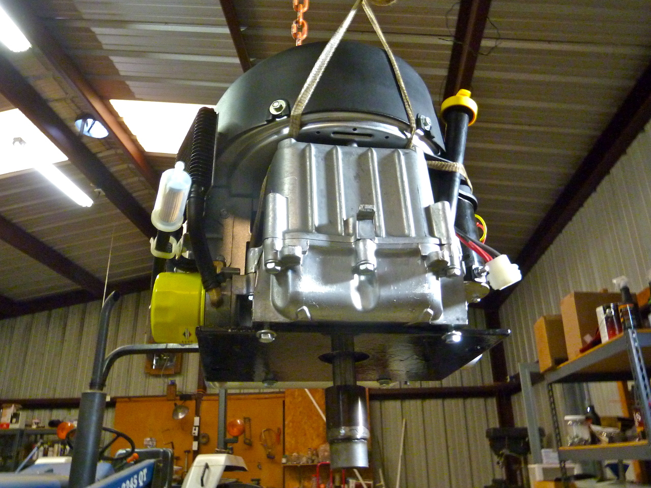 An engine module, for use with the Power Cube, which generates hydraulic power.   Photo: Open Source Ecology