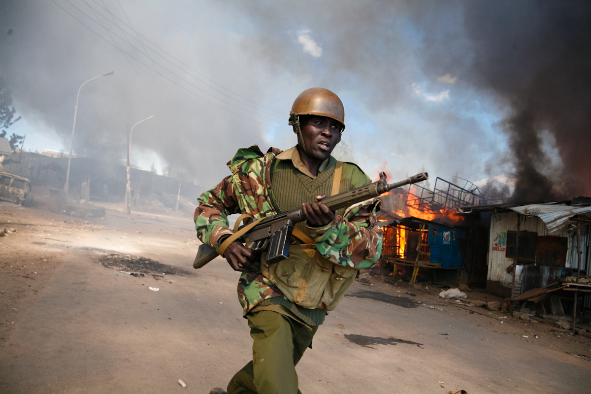 Boniface Mwangi documented post-election violence in Kenya in 2007, an experience that made him turn to art and activism. Photo: Boniface Mwangi