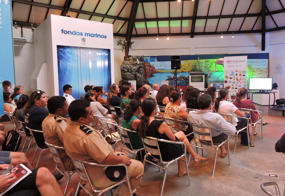 Half of those who RSVPed weren't able to actually get to the event—to be expected in a place where boat travel rules. Photo: Courtesy of TEDxGalápagos