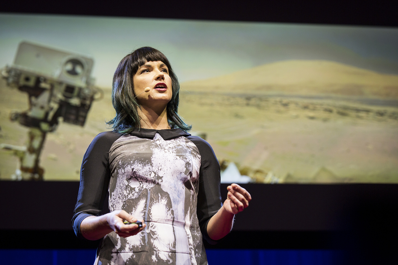 Stellar astronomer Lucianne Walkowicz speaks about how searching for habitable planets beyond Earth can help us treasure and preserve our own. Fellows talks Session 1, TED2015 - Truth and Dare, March 16-20, 2015, Kay Meek Center, West Vancouver, Canada. Photo: Ryan Lash/TED