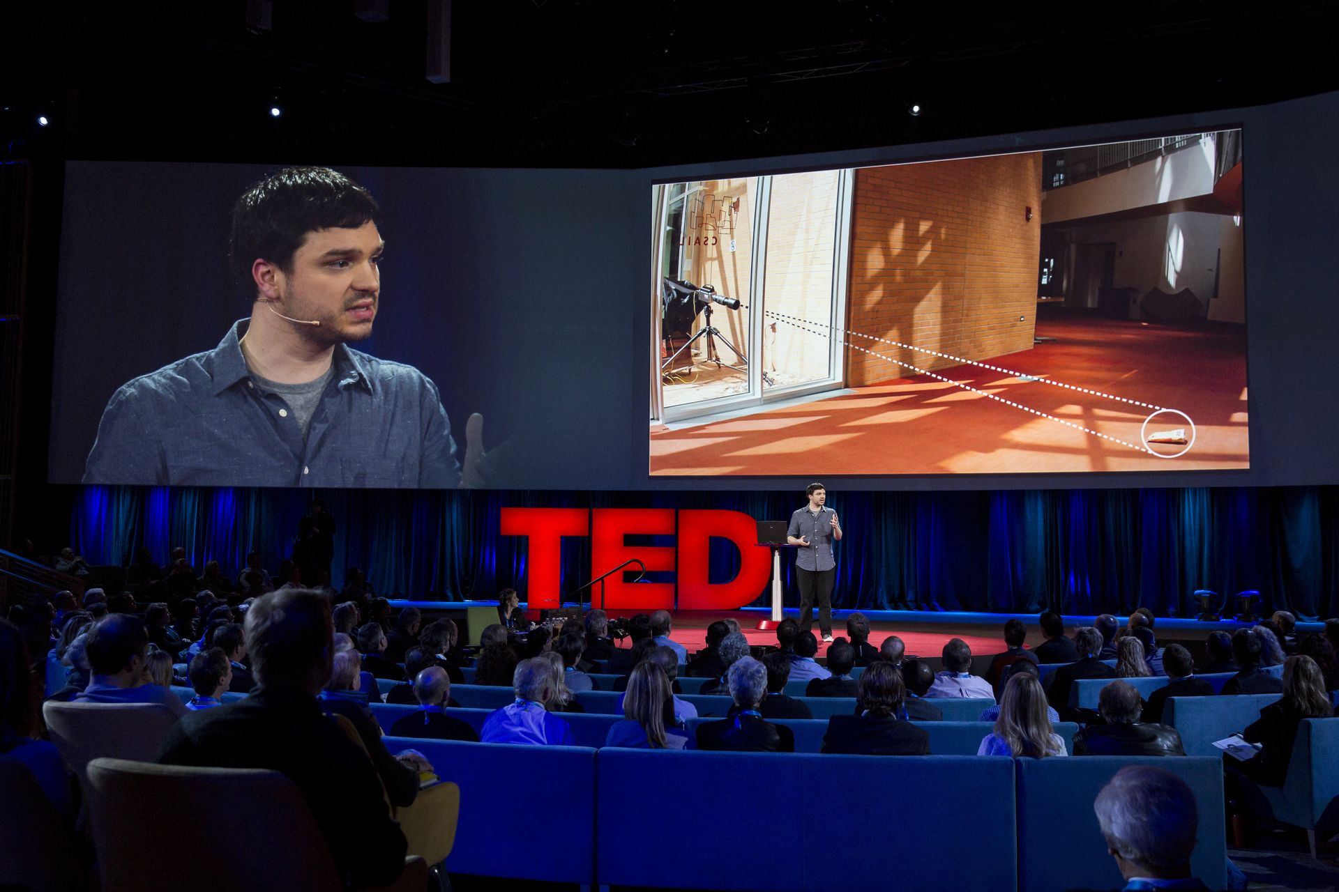 Abe Davis speaks at TED2015 - Truth and Dare, Session 1. Photo: Bret Hartman/TED