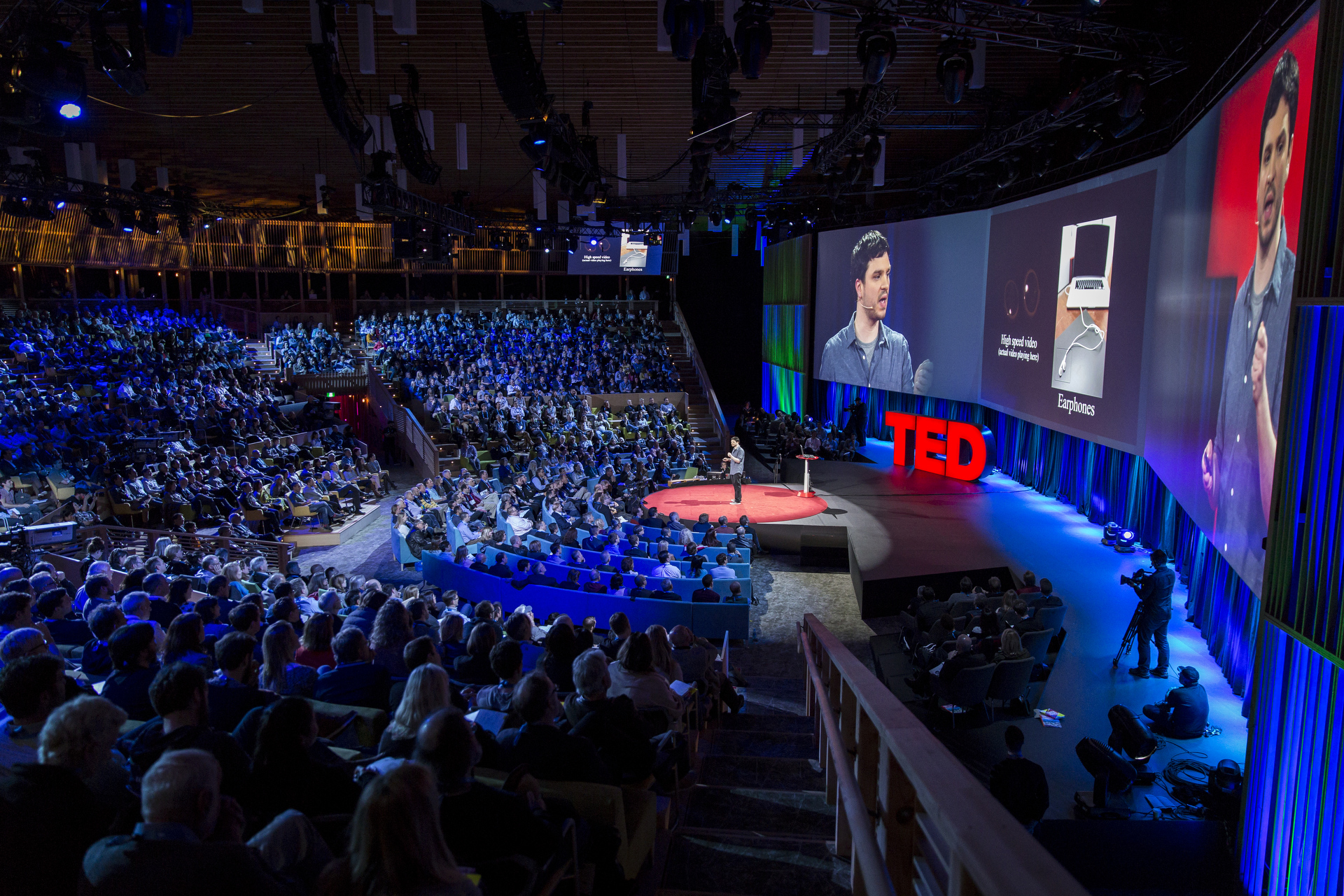Abe Davis speaks at TED2015 - Truth and Dare, Session 1. Photo: James Duncan Davidson/TED