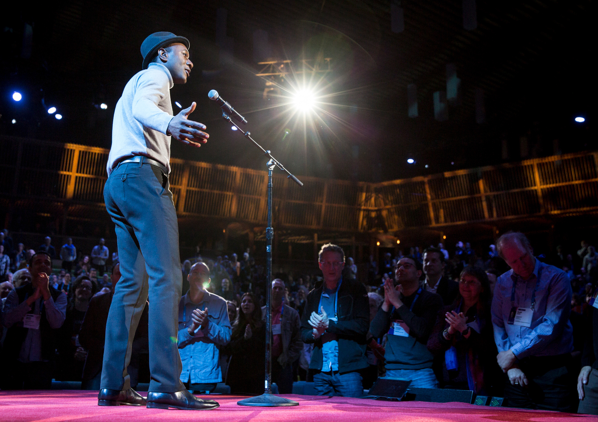Aloe Blacc performs at TED2015 - Truth and Dare, Session 12. Photo: Bret Hartman/TED