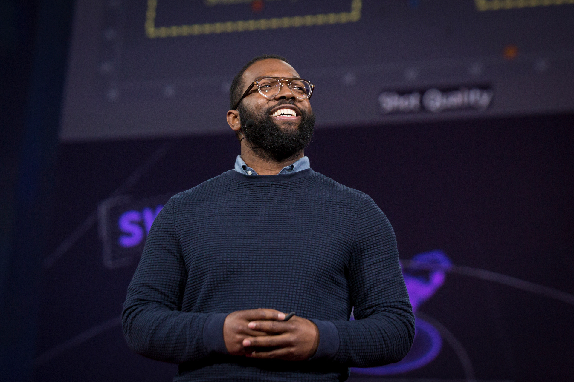 Baratunde Thurston speaks at TED2015 - Truth and Dare, Session 12. Photo: Bret Hartman/TED
