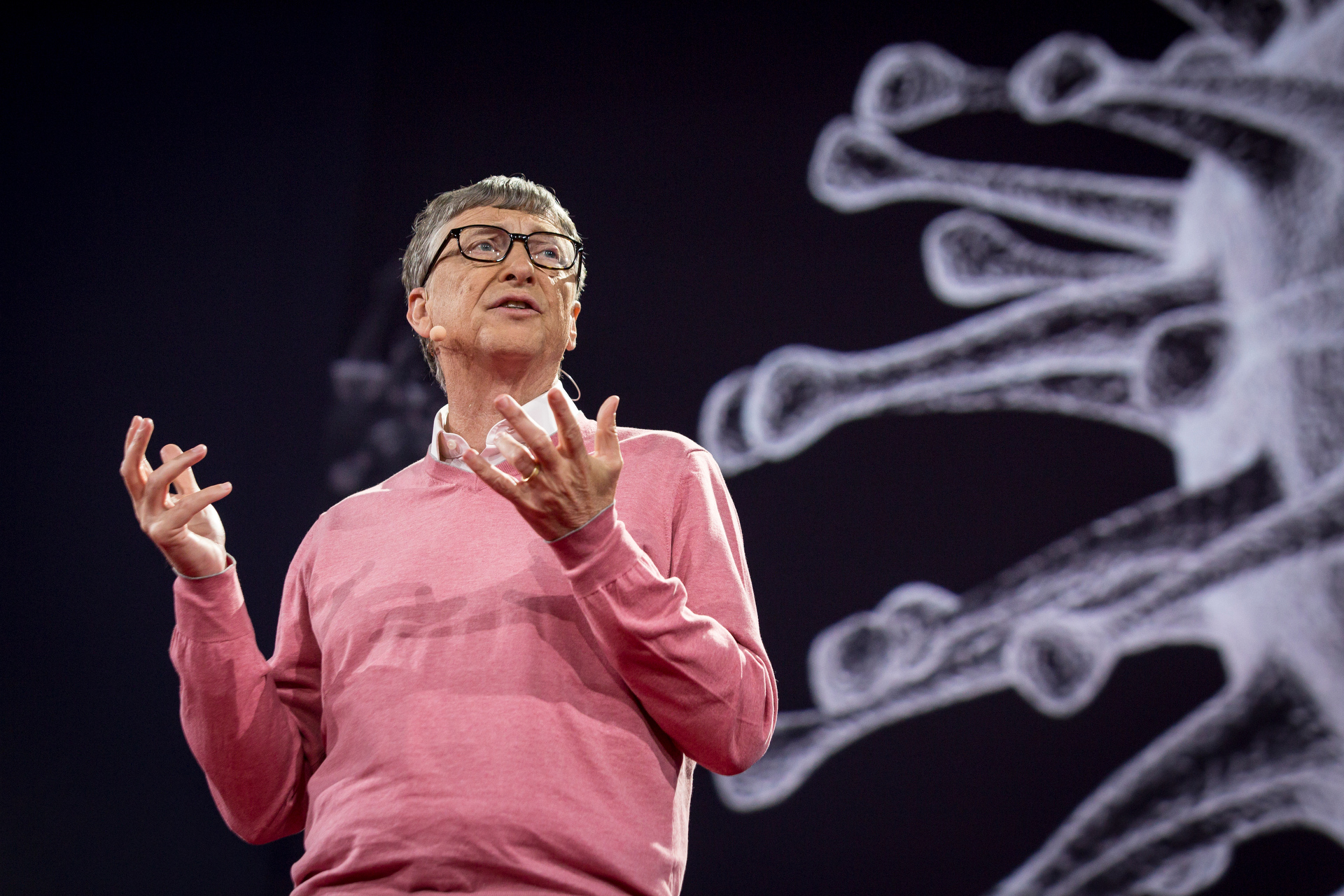 Bill Gates speaks at TED2015 - Truth and Dare, TED University. Photo: Bret Hartman/TED