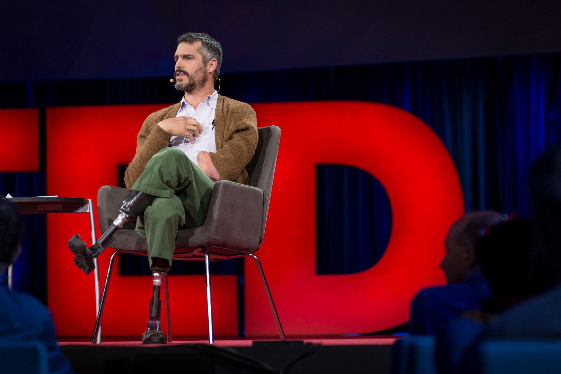 BJ Miller spoke on how we can design for a better end of life—and how 11,000 volts of electricity in college first got him thinking about this. Read more. Photo: Bret Hartman/TED