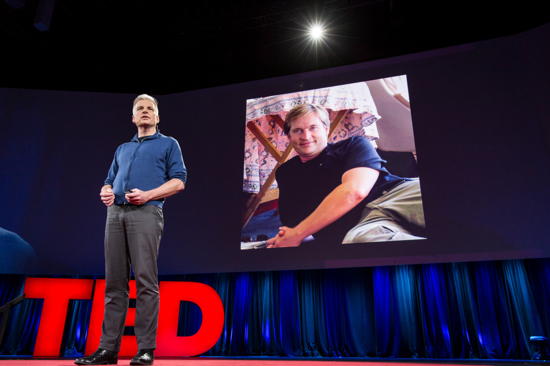 Bruce Haden speaks at TED2015 - Truth and Dare, TED University. Photo: Bret Hartman/TED