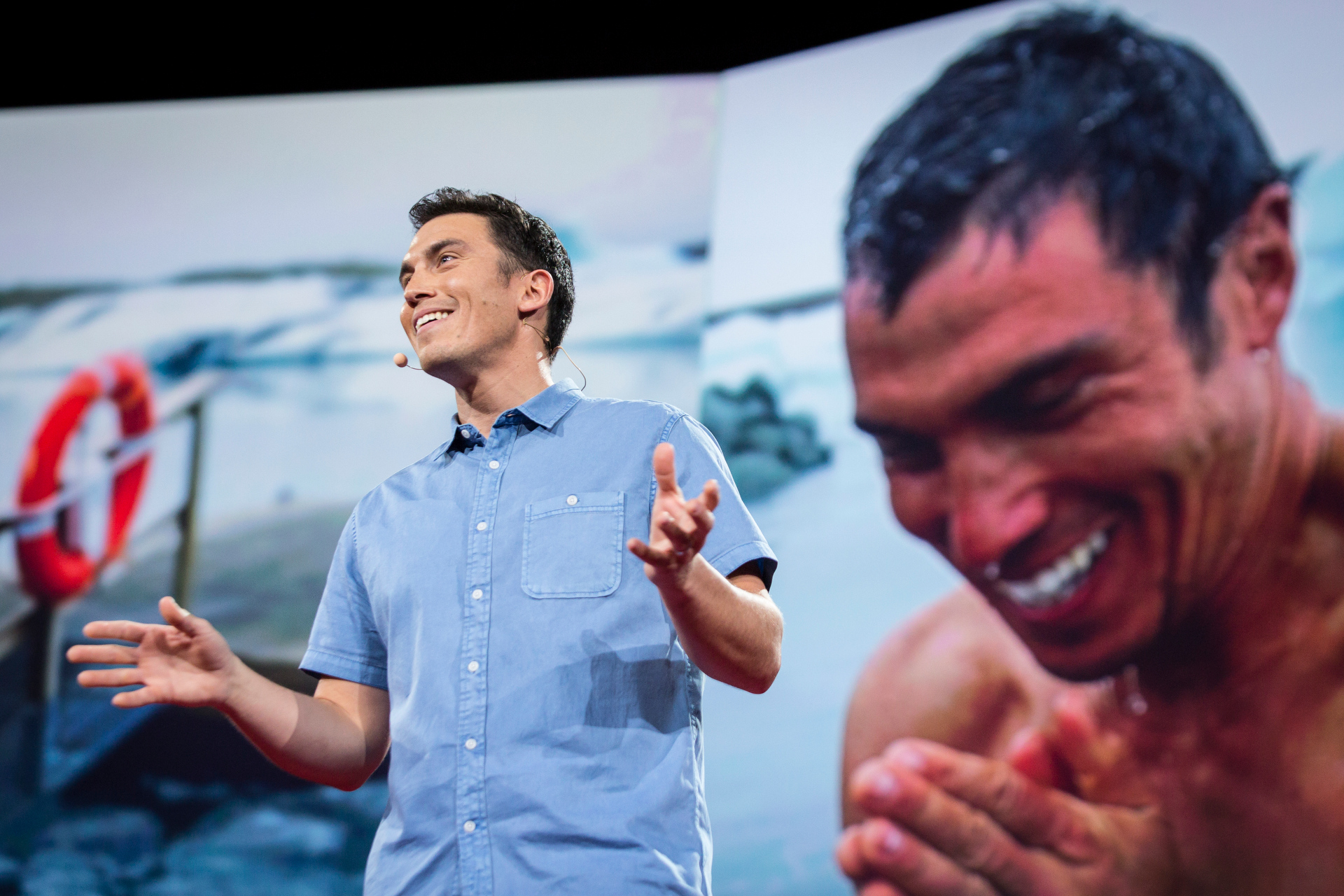Chris Burkard speaks at TED2015 - Truth and Dare, Session 11. Photo: Bret Hartman/TED