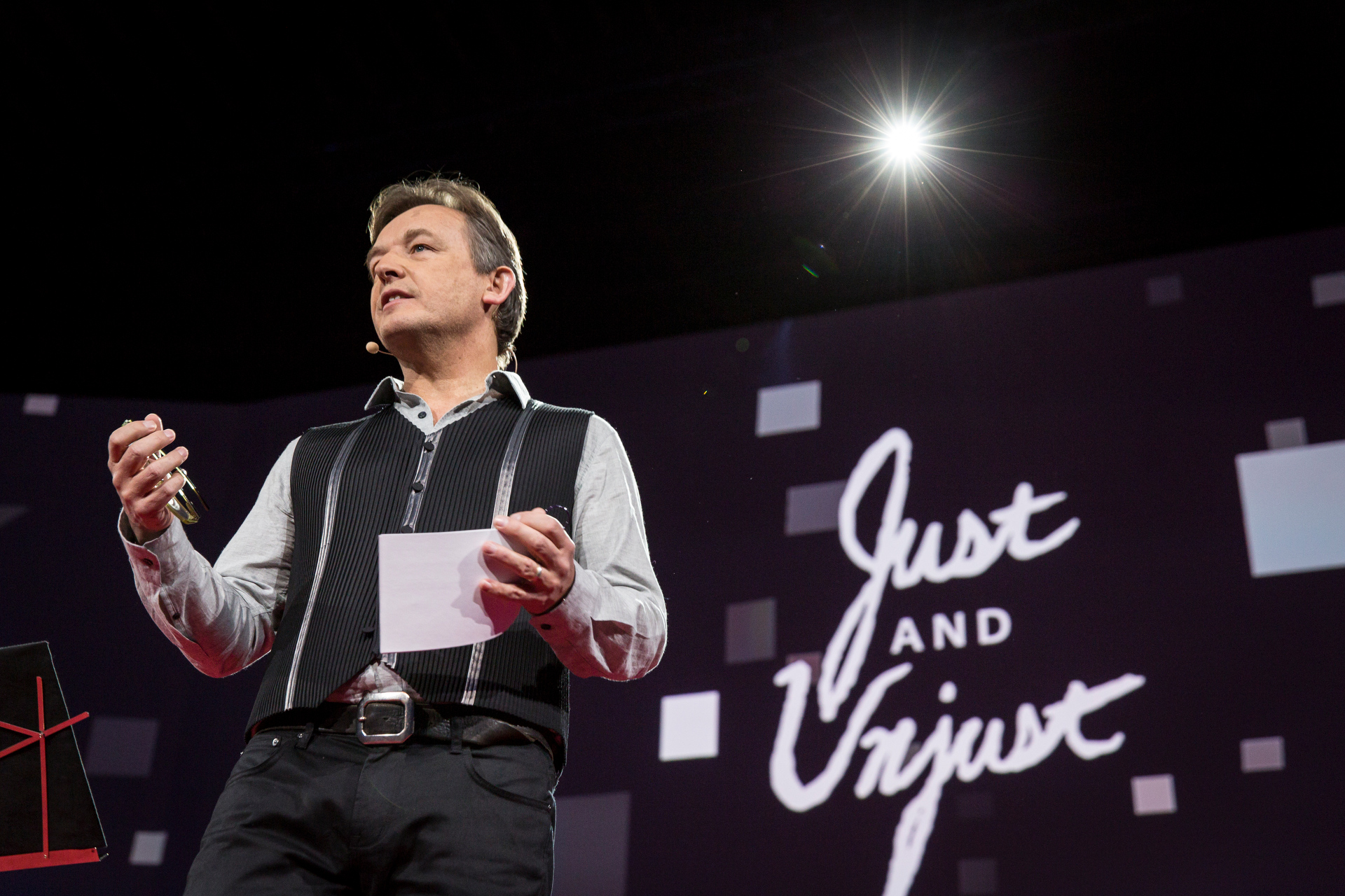 """Chris Anderson, TED's Curator, hosts a chilling session, """"Just and Unjust."""" Read a full recap of it. Bret Hartman/TED http://blog.ted.com/just-and-unjust-a-recap-of-the-powerful-talks-of-session-9-at-ted2015/"""