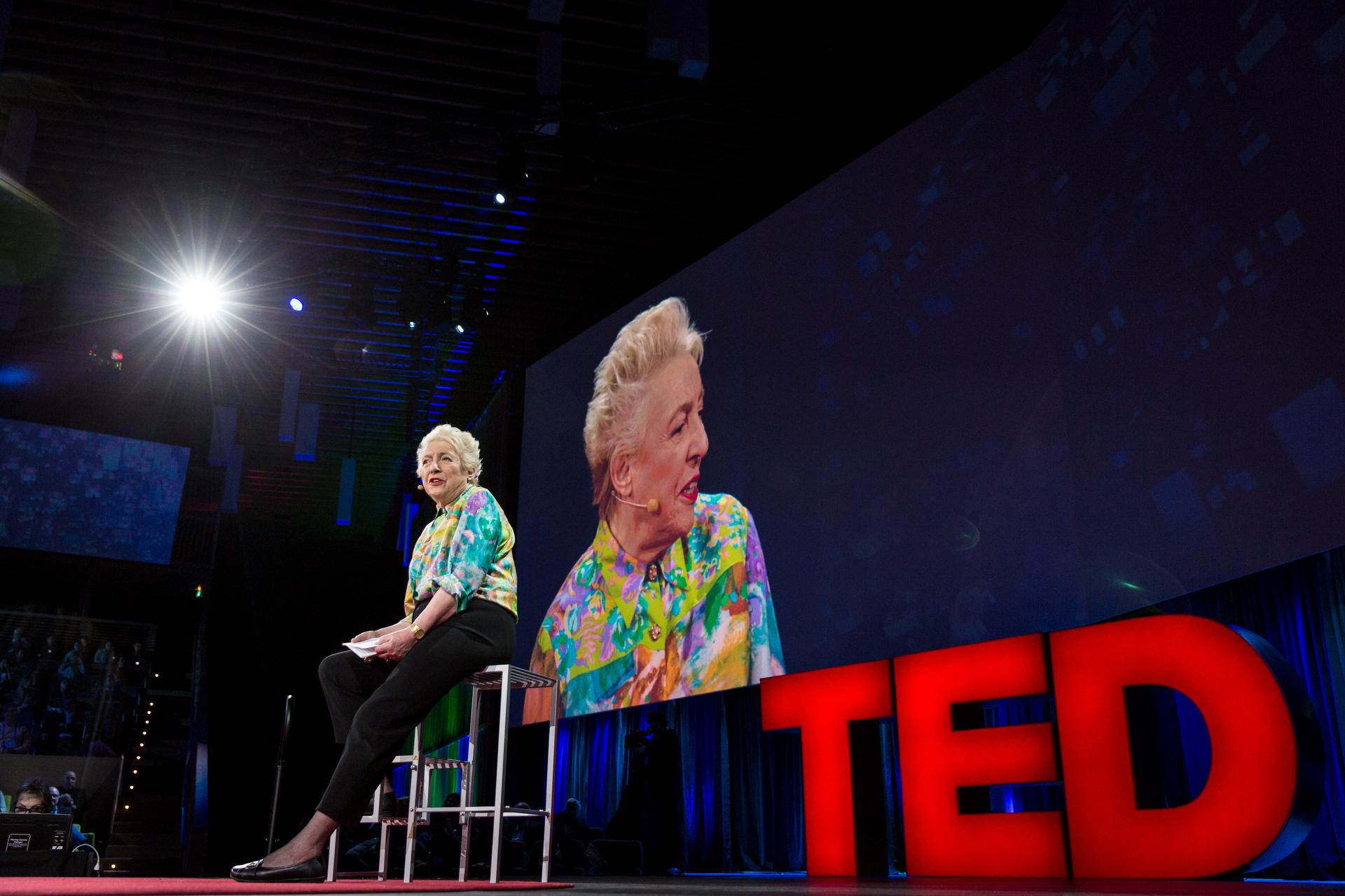 Dame Stephanie Shirley speaks at TED2015 - Truth and Dare, Session 5.  Photo: Bret Hartman/TED