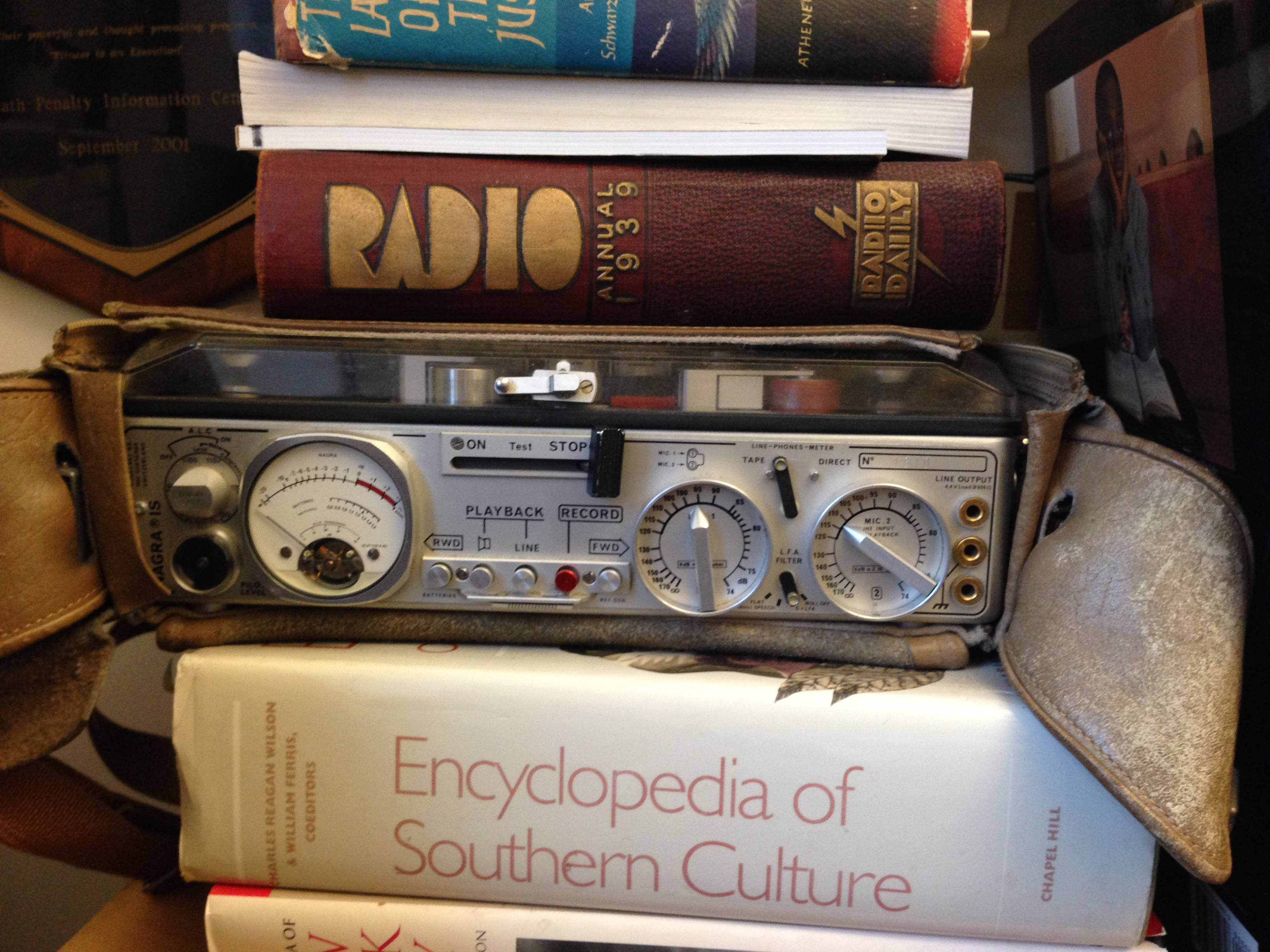 Dave Isay still keeps the tape recorder he brought to his very first interview on his bookshelf. Photo: Amy S. Choi