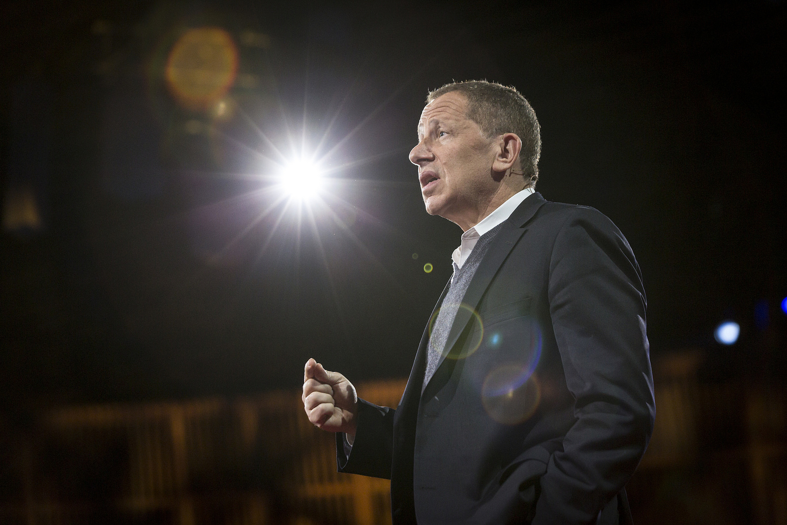"""David Rothkopf was a huge TED skeptic—until he attended TED2015. """"I was wrong about TED,' he says. Photo: Bret Hartman/TED"""