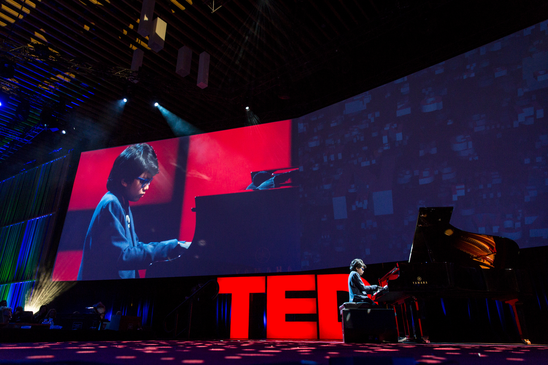 Joey Alexander performs at TED2015 - Truth and Dare, Session 5. Photo: Bret Hartman/TED