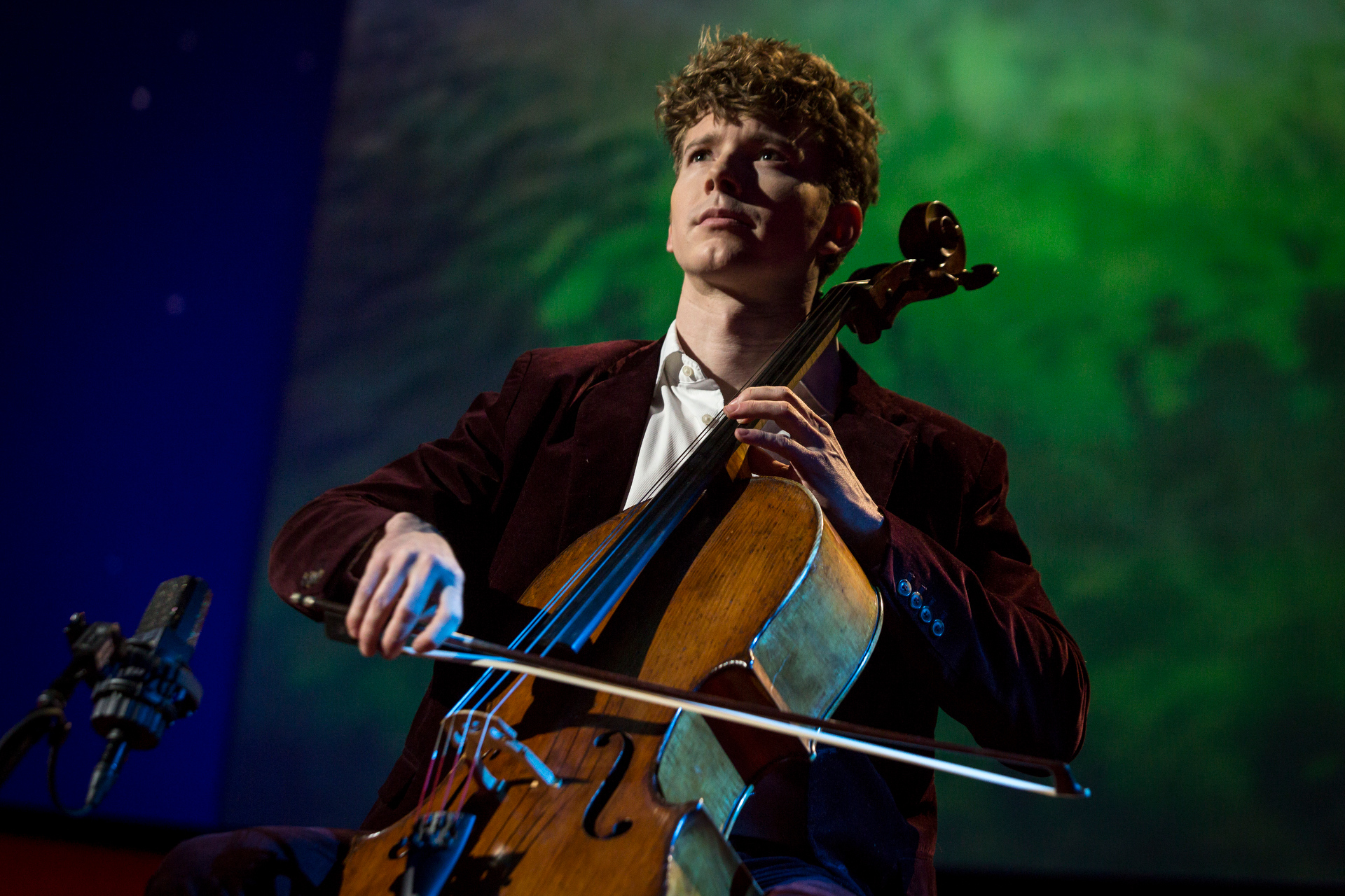 TED Fellow Joshua Roman on his cello. Photo: Bret Hartman/TED