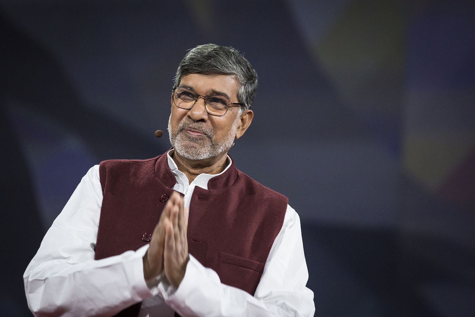 Nobel Peace Prize winner Kailash Satyarthi didn't talk about peace—he talked about anger. Read more about his talk. Photo: Bret Hartman/TED http://blog.ted.com/im-urging-you-to-be-angry-kailash-satyarthi-live-at-ted2015/