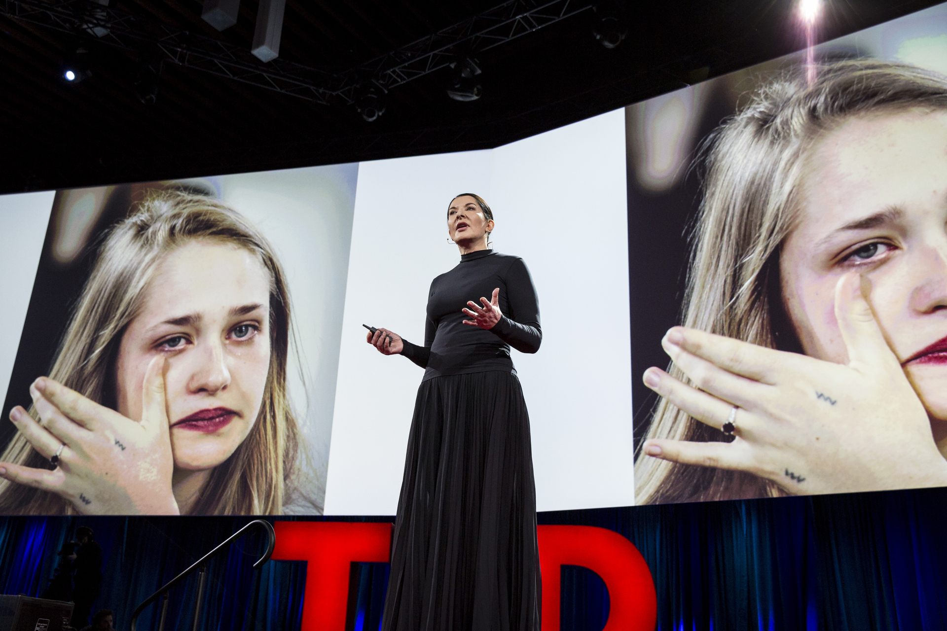 Marina Abramovic speaks at TED2015 - Truth and Dare, Session 1. Photo: Bret Hartman/TED