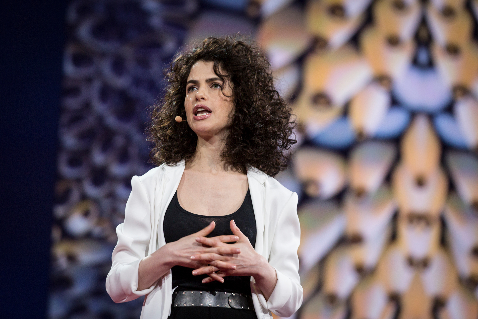 Neri Oxman speaks at TED2015 - Truth and Dare, Session 10. Photo: Bret Hartman/TED