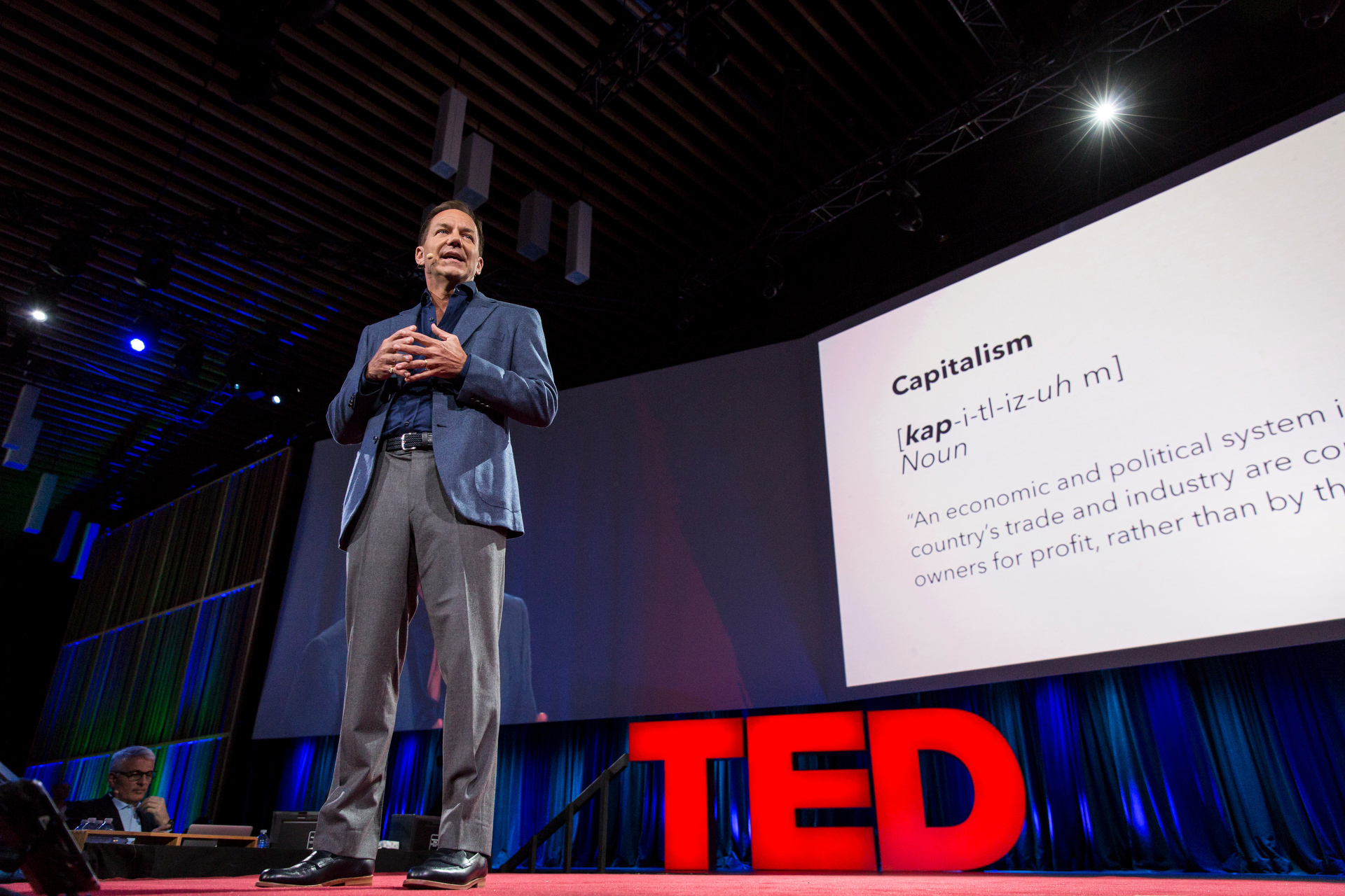 Paul Tudor Jones II speaks at TED2015 - Truth and Dare, TED University. Photo: Bret Hartman/TED