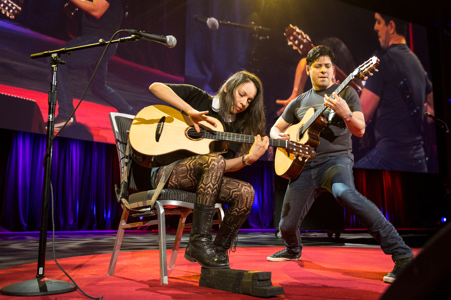 Rodrigo y Gabriela perform at TED2015 - Truth and Dare, Session 7. Photo: Bret Hartman/TED
