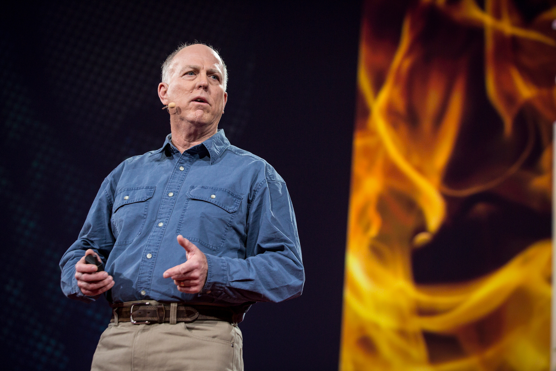 Stephen Pyne speaks at TED2015 - Truth and Dare, Session 10. Photo: Bret Hartman/TED