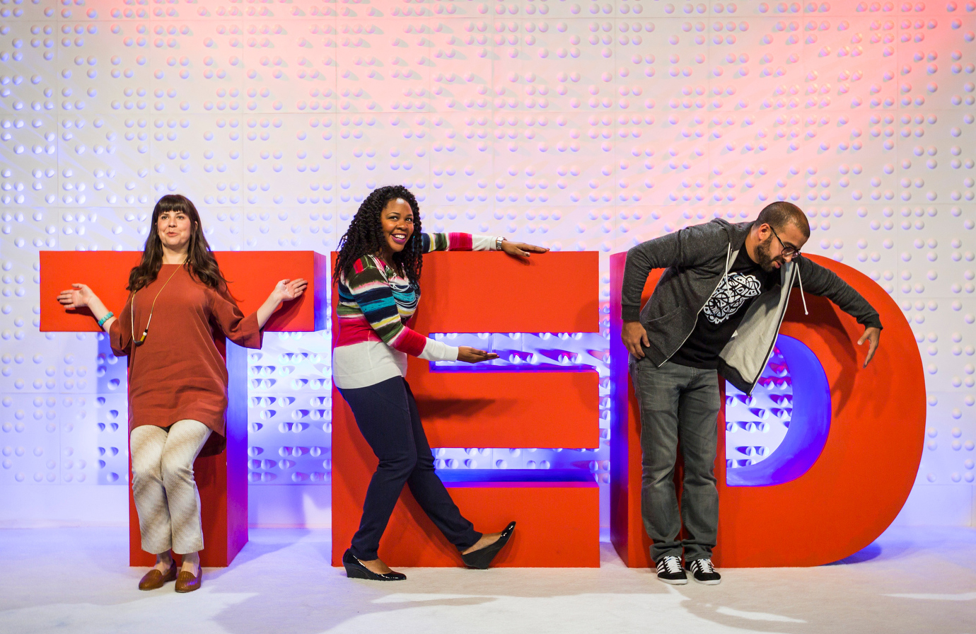 At a booth designed by TED engineer Josh Warchol lets attendees snap a candid with the TED letters. Photo: Ryan Lash/TED