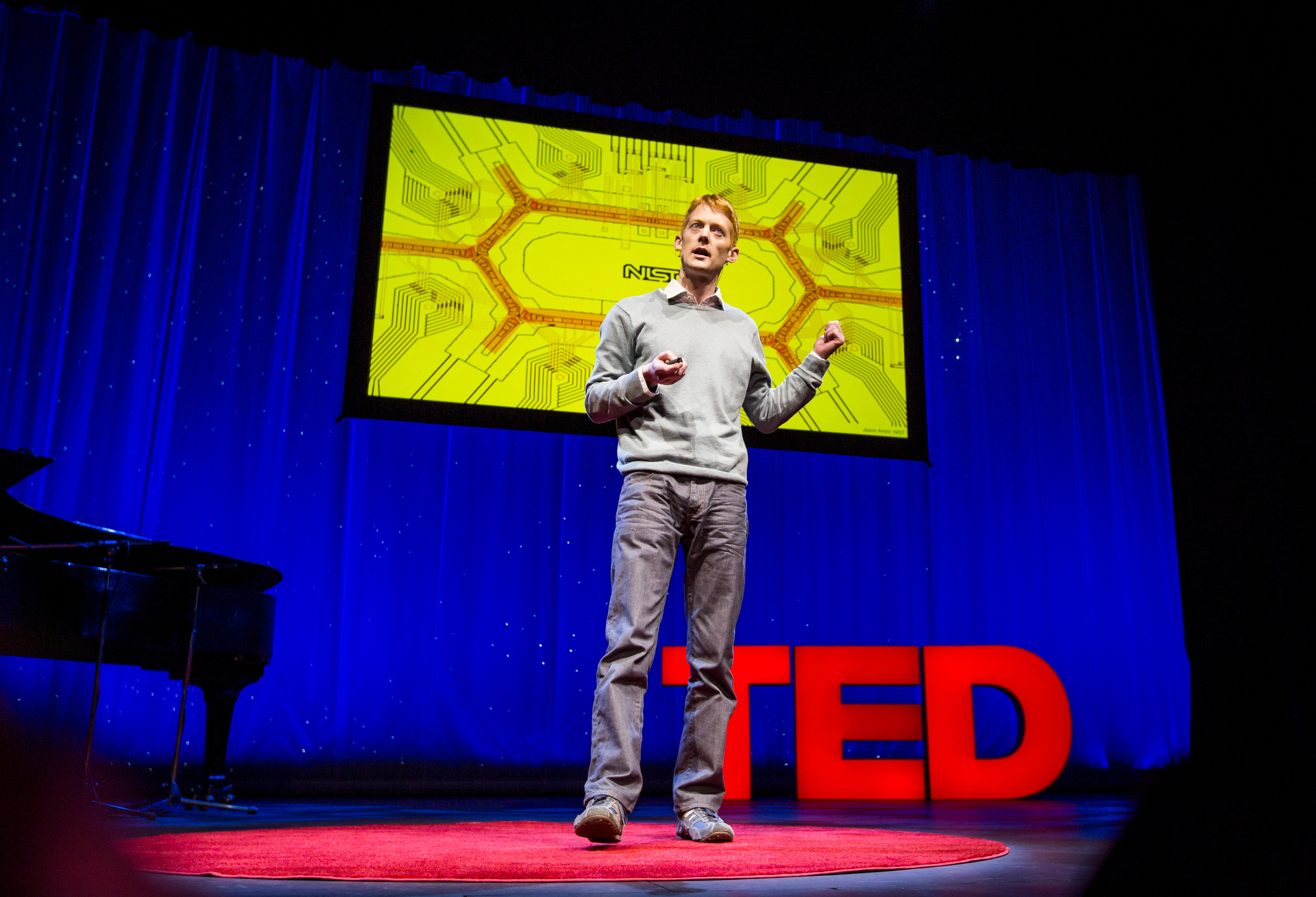 Jonathan Home on quantum computers during Fellows session 1, TED2015 - Truth and Dare, March 16-20, 2015, Kay Meek Center, West Vancouver, Canada. Photo: Ryan Lash/TED