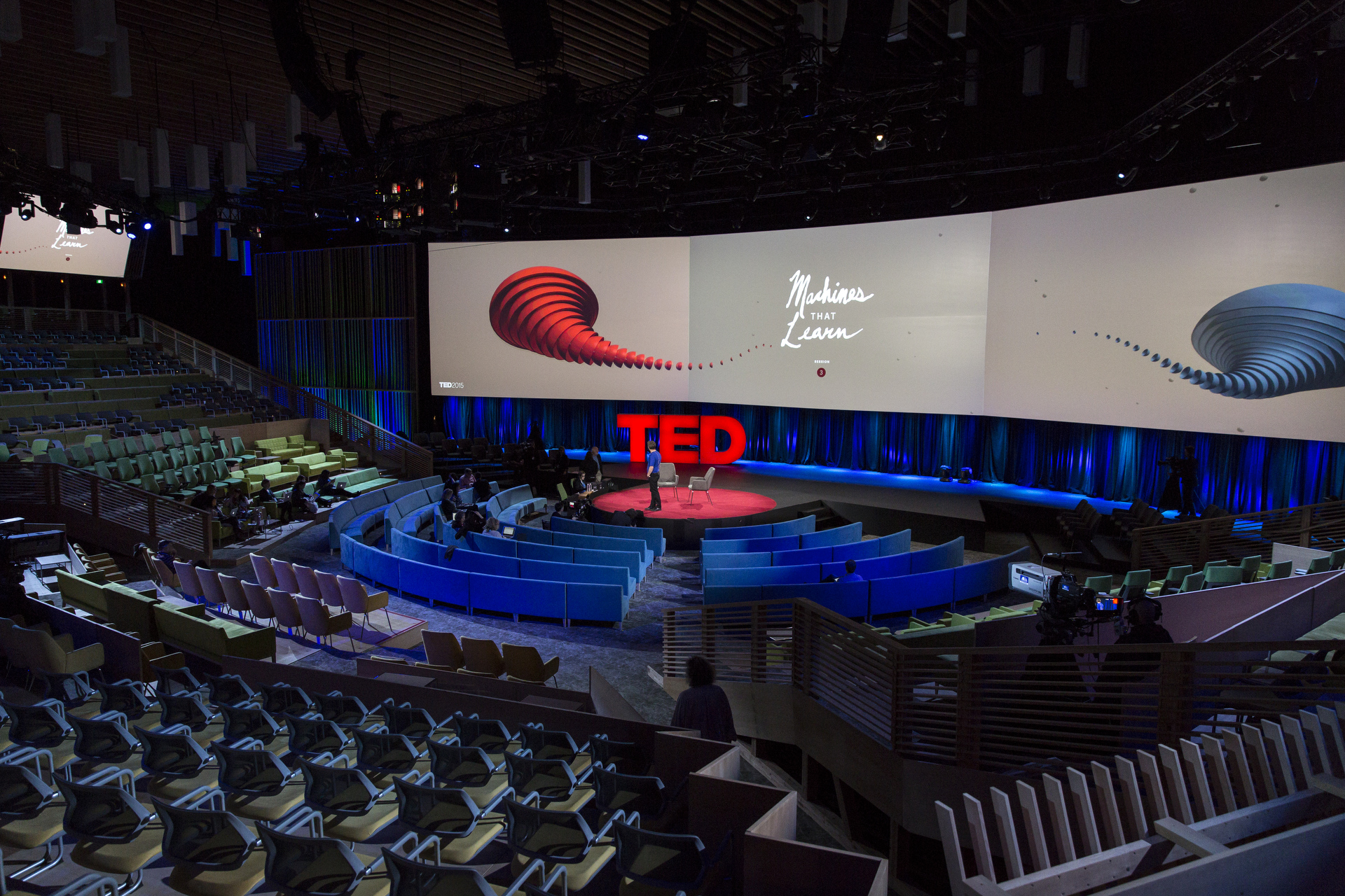 Inside the theater at TED2015 - Truth and Dare, Vancouver Convention Center, Vancouver, Canada. Photo: Bret Hartman/TED