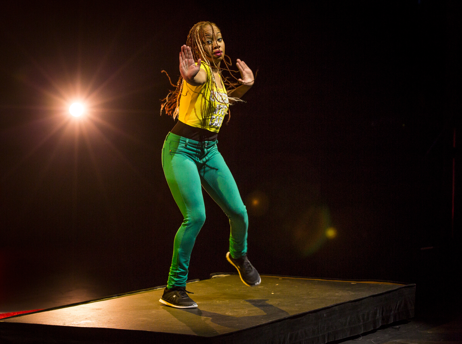 Camille Brown performs during Fellows session 2, TED2015 - Truth and Dare, March 16-20, 2015, Kay Meek Center, West Vancouver, Canada. Photo: Ryan Lash/TED