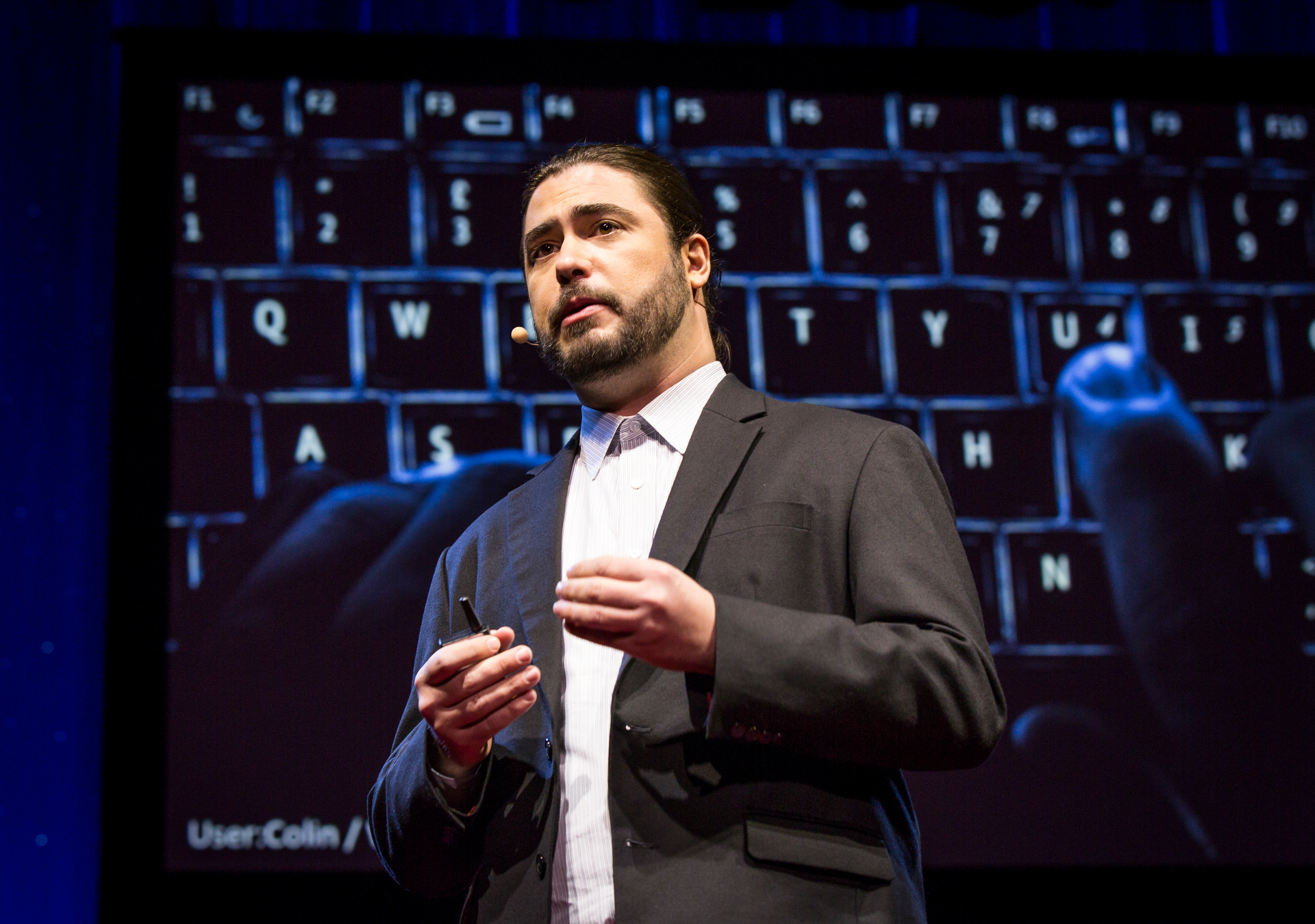 Christopher Soghoian on ways government surveillance makes us all less secure. Fellows session 2, TED2015 - Truth and Dare, March 16-20, 2015, Kay Meek Center, West Vancouver, Canada. Photo: Ryan Lash/TED