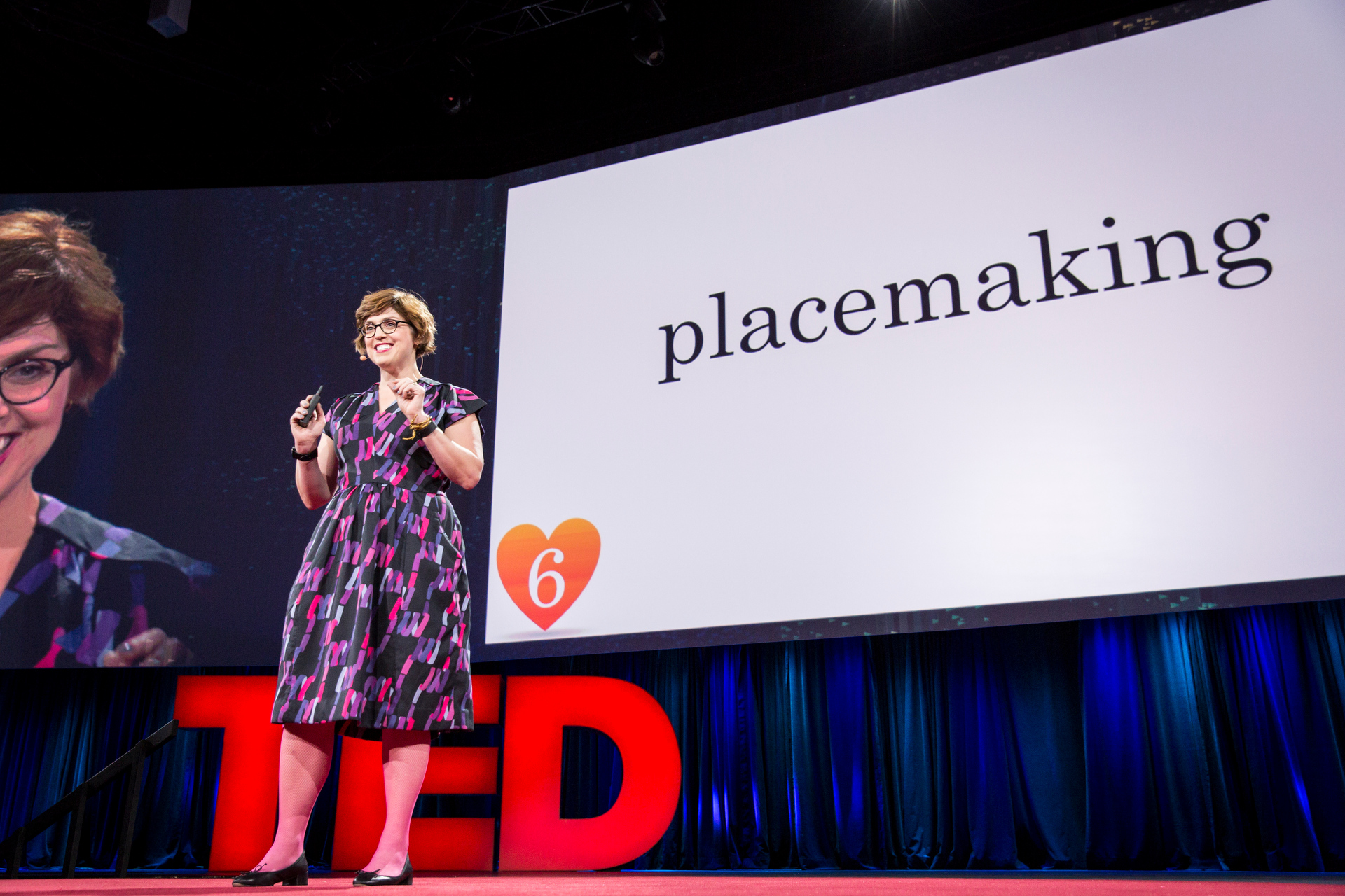 Erin McKean shares the top 10 words of TED2015. Her #6: placemaking, from Theaster Gates' TED Talk. Photo: Bret Hartman/TED